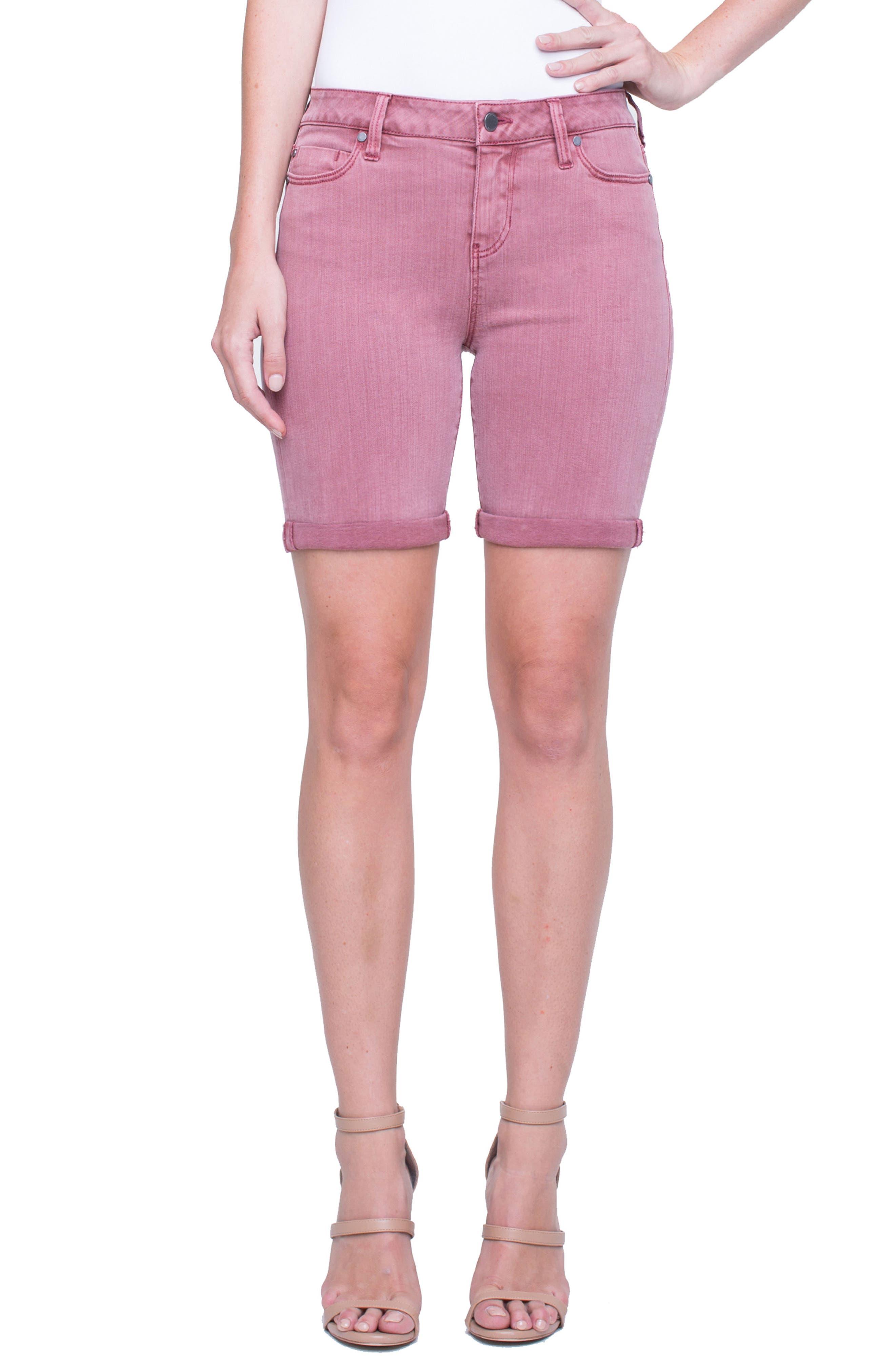 Corine Cuffed Denim Shorts,                             Main thumbnail 2, color,