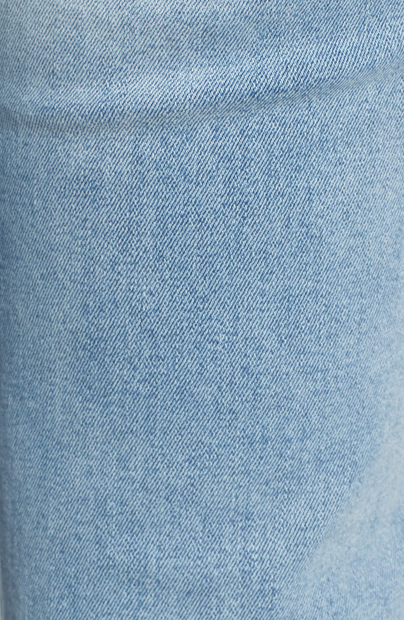 Mara Instasculpt Ankle Straight Leg Jeans,                             Alternate thumbnail 5, color,                             MARINA