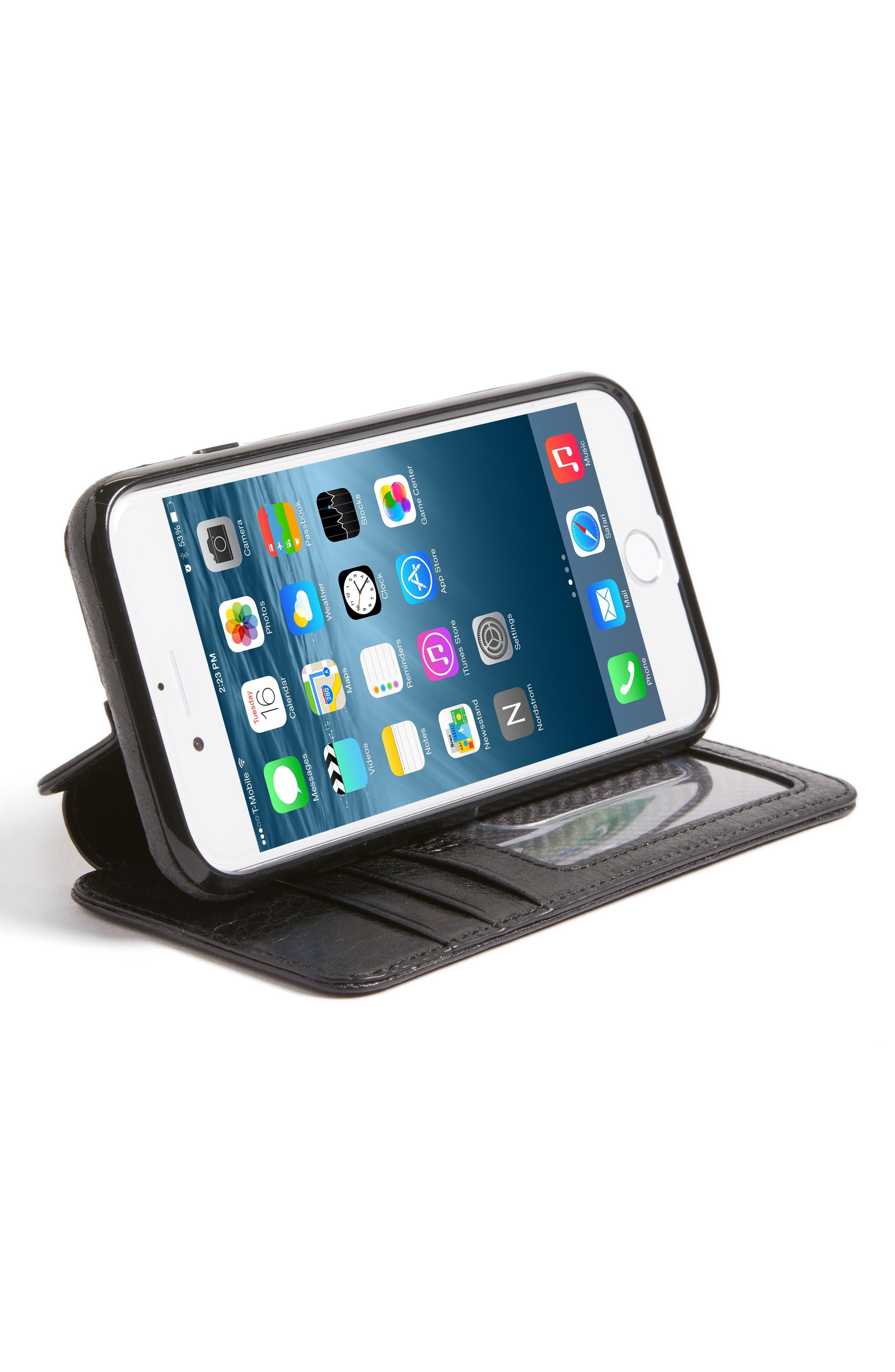 SENA,                             iPhone 7/8 Leather Wallet Case,                             Alternate thumbnail 3, color,                             005