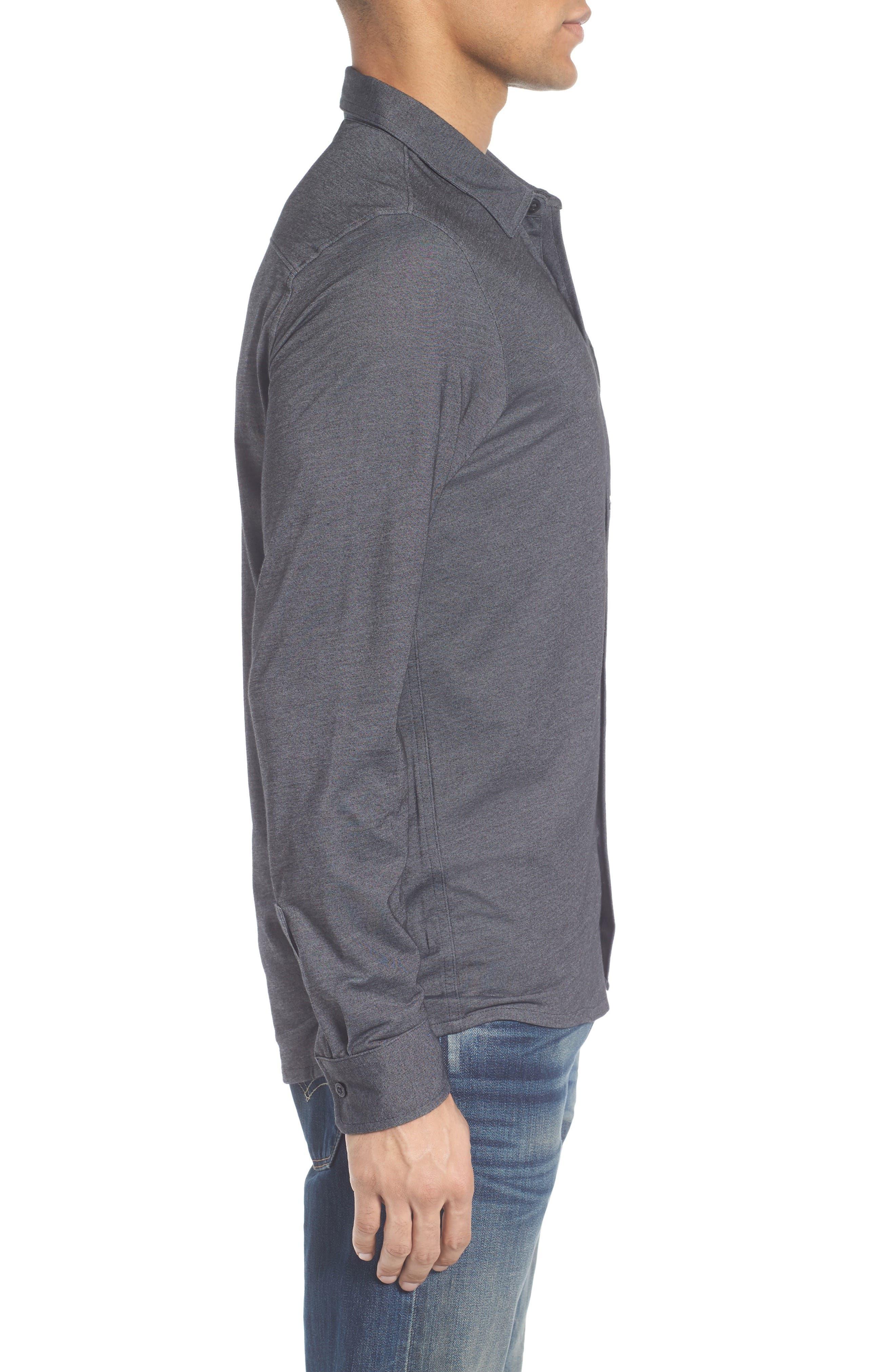Trip'Slim Fit Wrinkle Free Sport Shirt,                             Alternate thumbnail 3, color,                             001