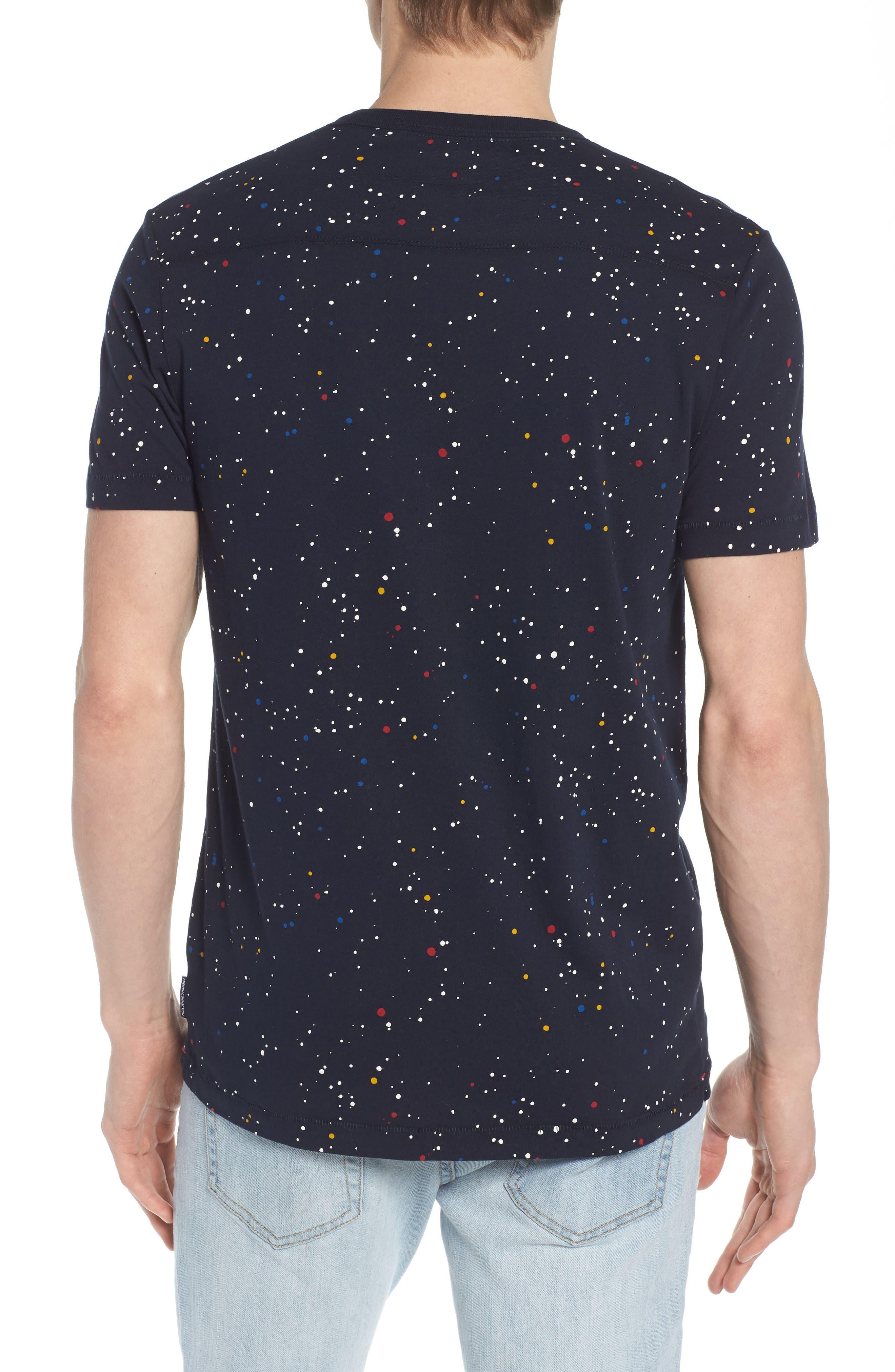 Star Splatter Crewneck T-Shirt,                             Alternate thumbnail 2, color,                             MARINE BLUE