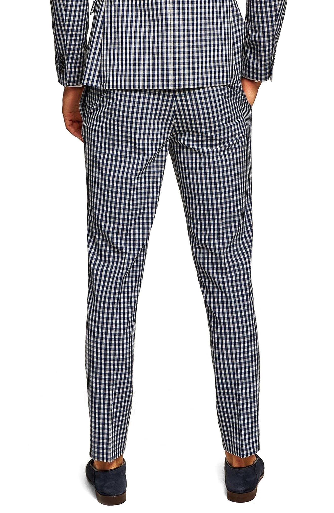 Muscle Fit Check Suit Trousers,                             Alternate thumbnail 2, color,                             400