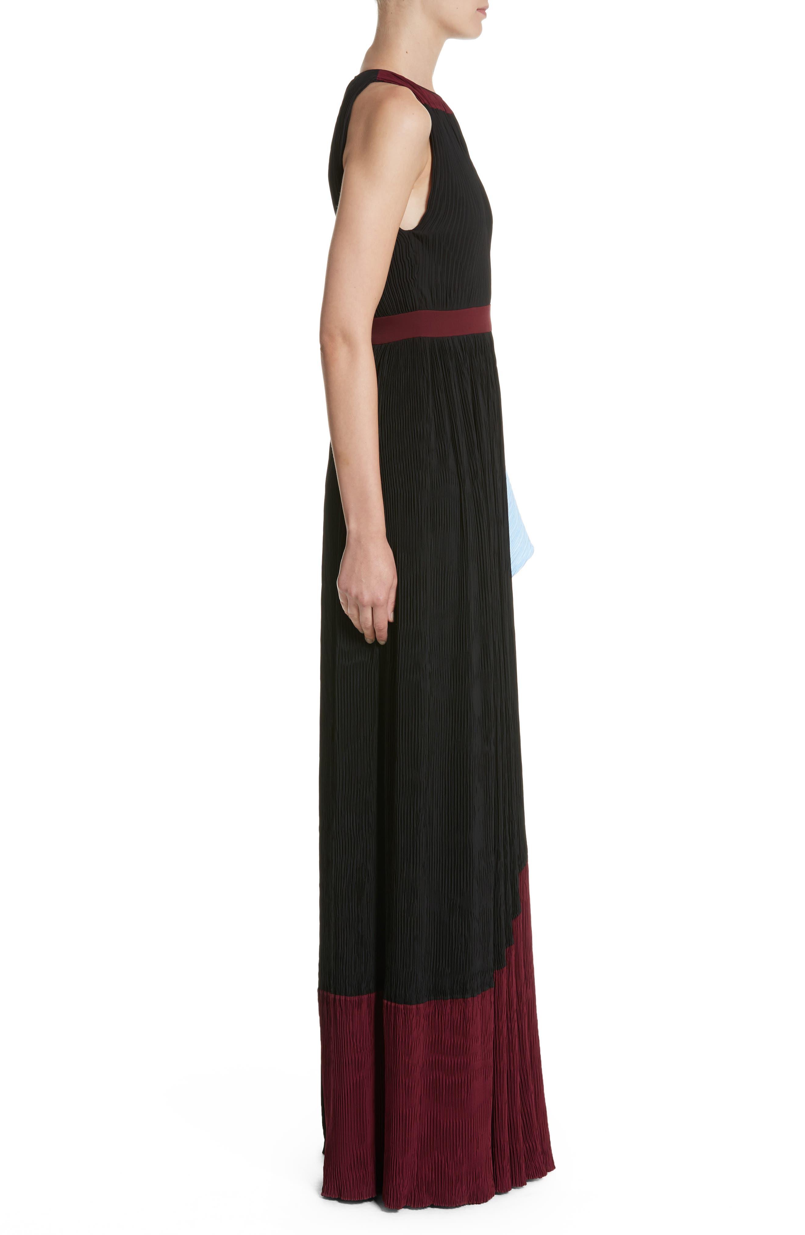 Milda Crystal Pleat Dress,                             Alternate thumbnail 3, color,                             010