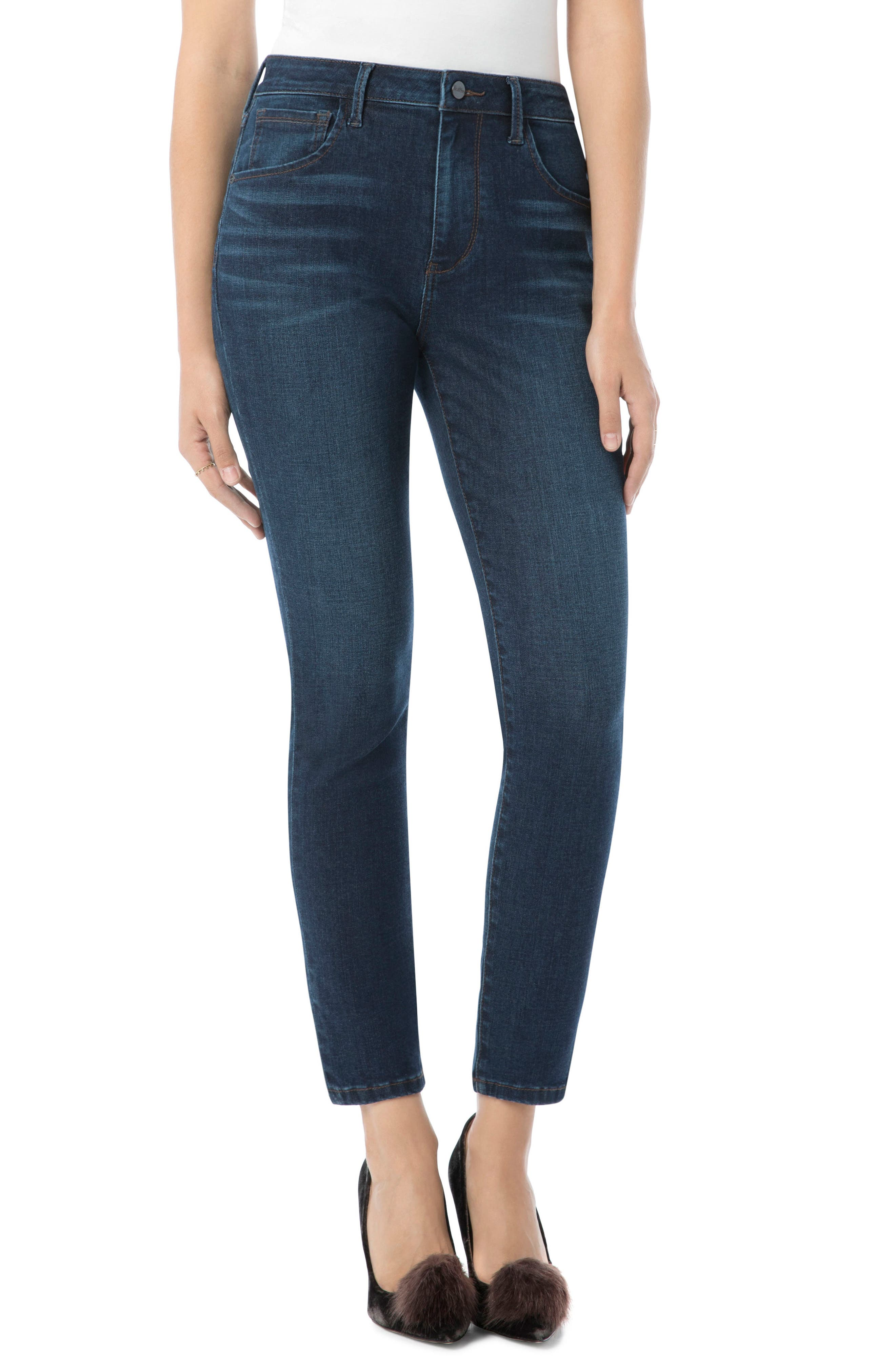 The Stilleto Ankle Jean,                         Main,                         color, LUCINDA