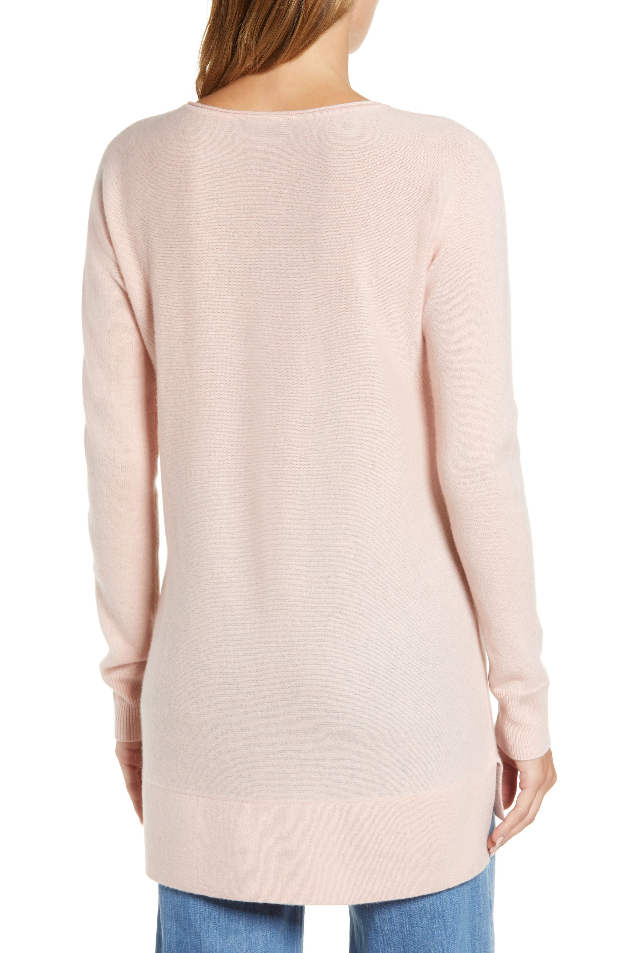 High/Low Wool & Cashmere Tunic Sweater,                             Alternate thumbnail 34, color,