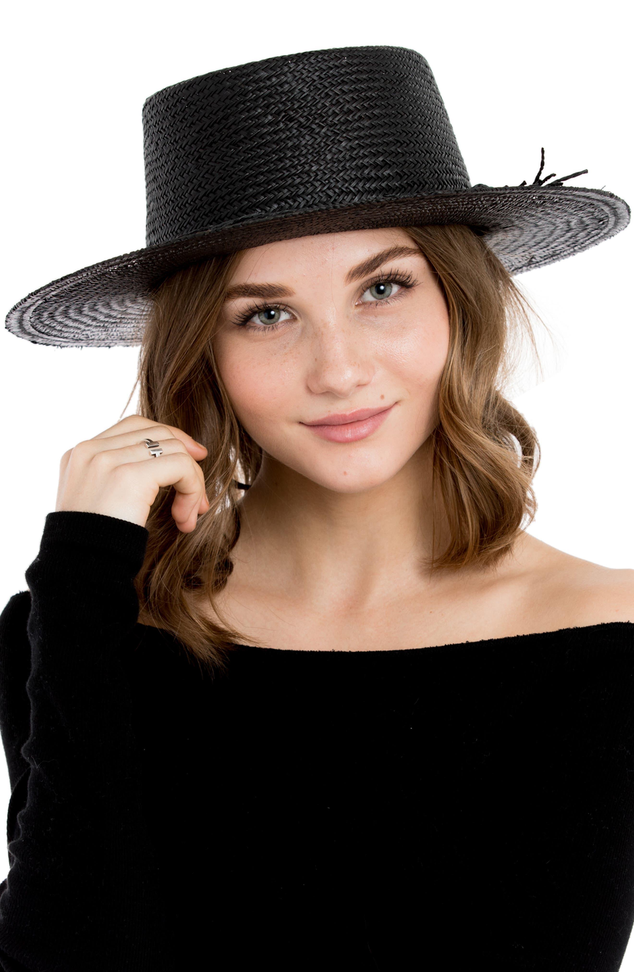 Borden Straw Resort Hat,                             Alternate thumbnail 2, color,                             001