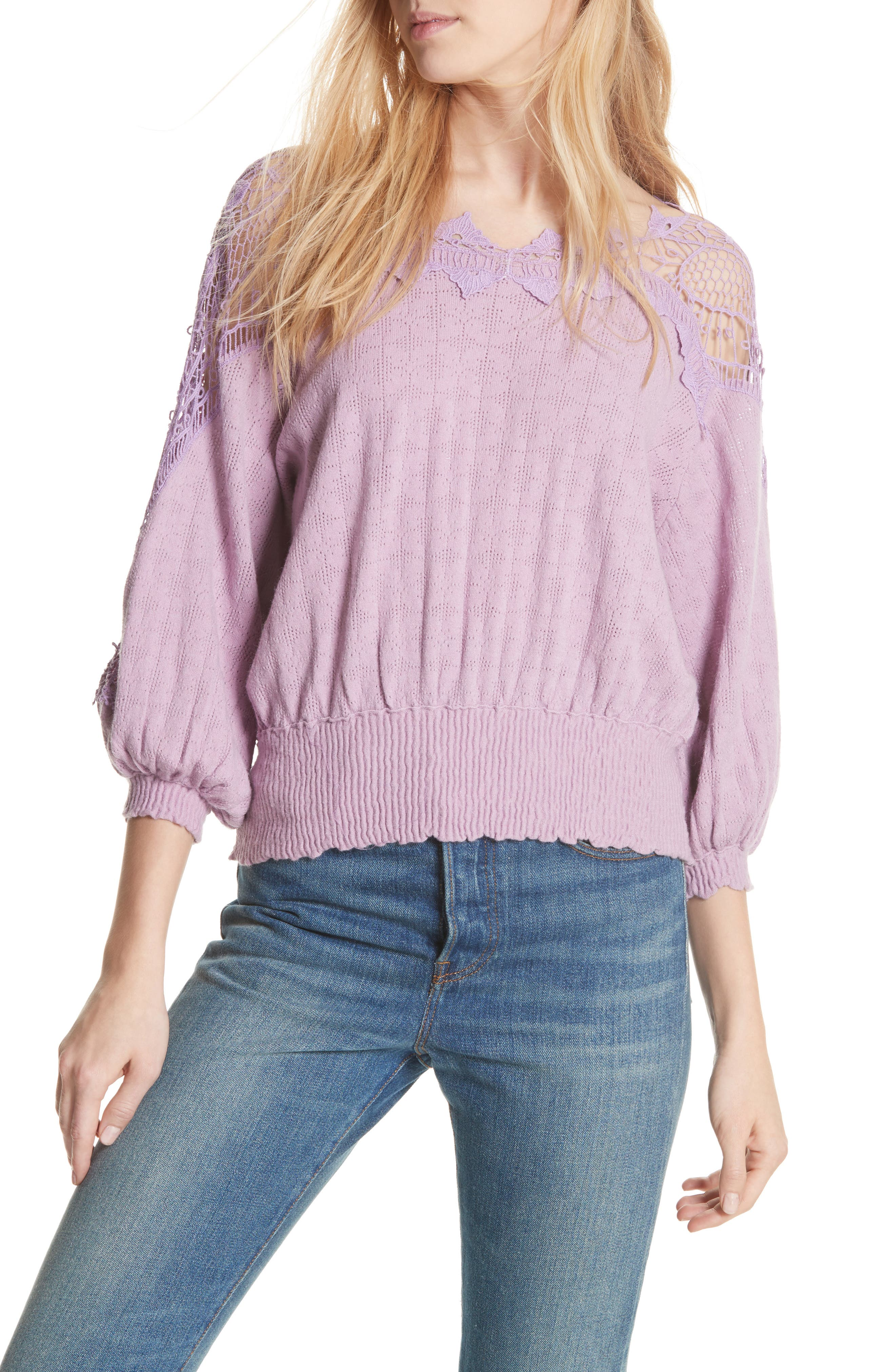Love Lace Sweater,                             Main thumbnail 1, color,                             531