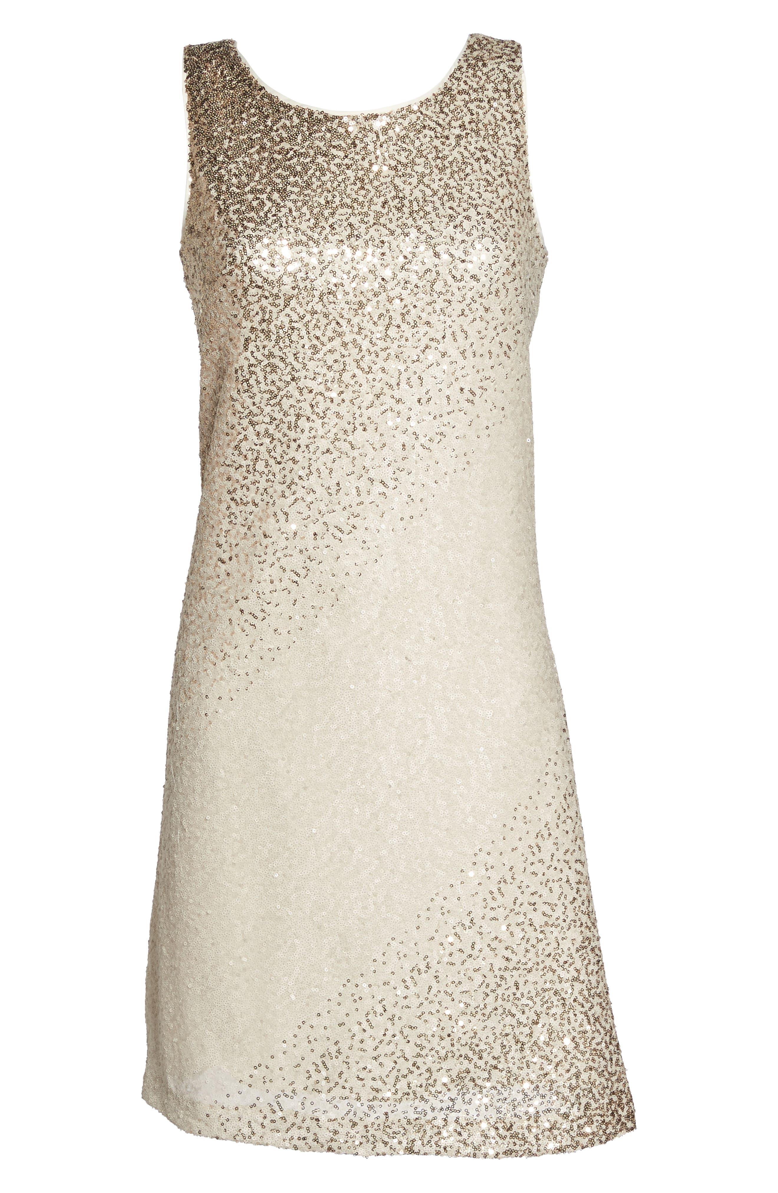 Sequin Shift Dress,                             Alternate thumbnail 6, color,
