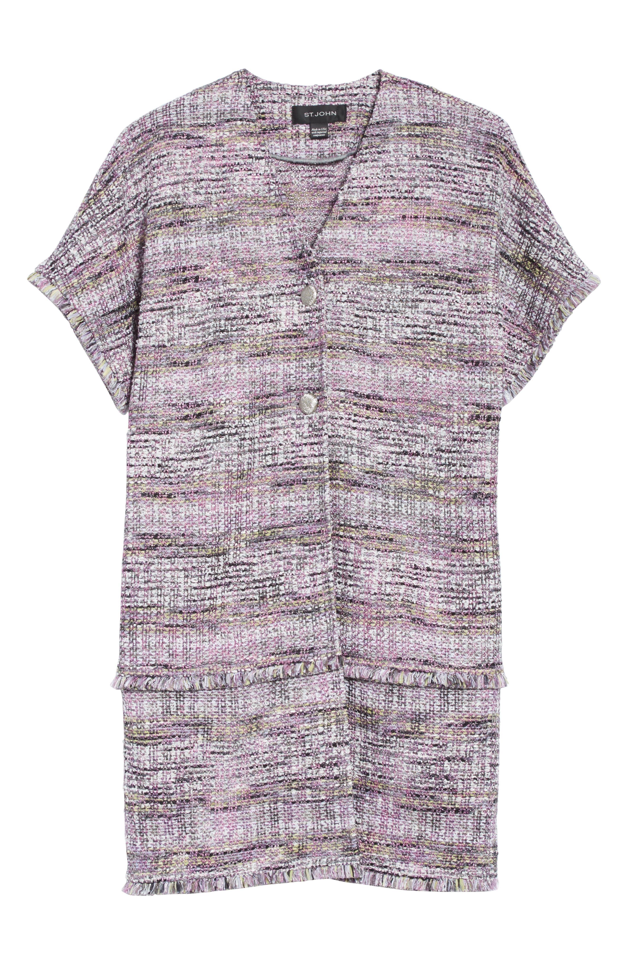 Anna Stripe Tweed Dolman Jacket,                             Alternate thumbnail 5, color,