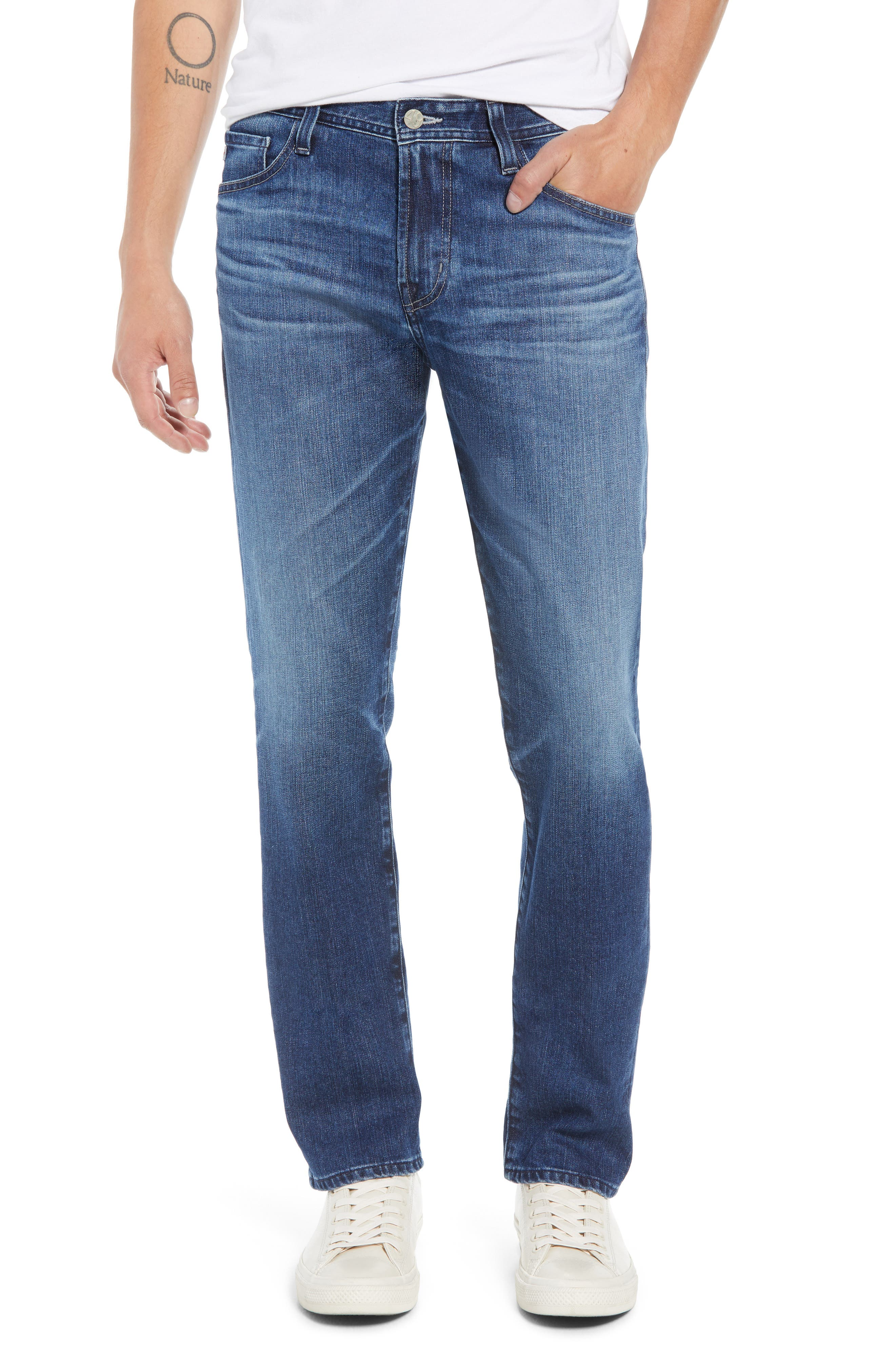 Everett Slim Straight Leg Jeans,                             Main thumbnail 1, color,                             9 YEARS SEQUENCE
