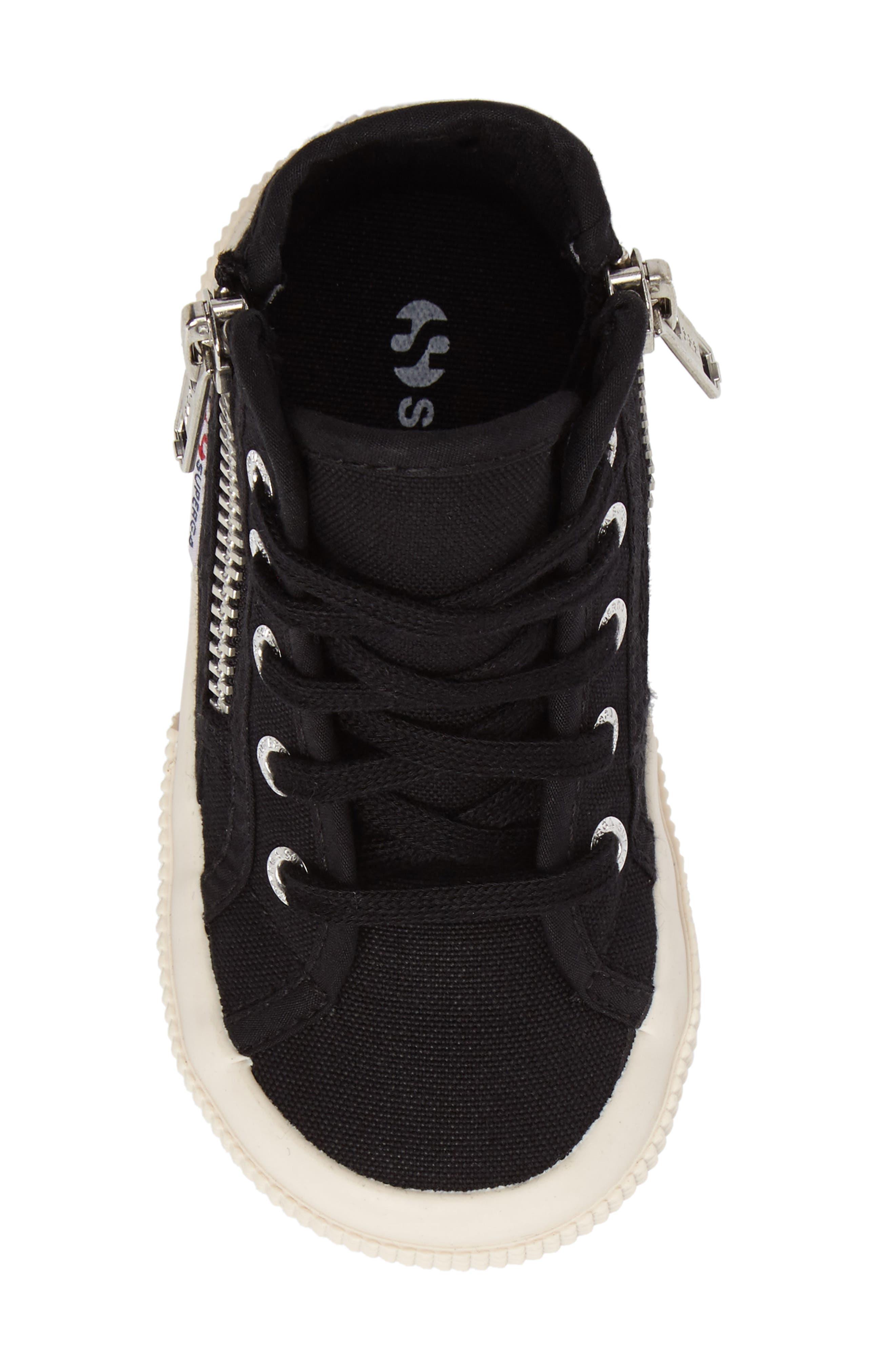 Zip High Top Sneaker,                             Alternate thumbnail 5, color,                             001