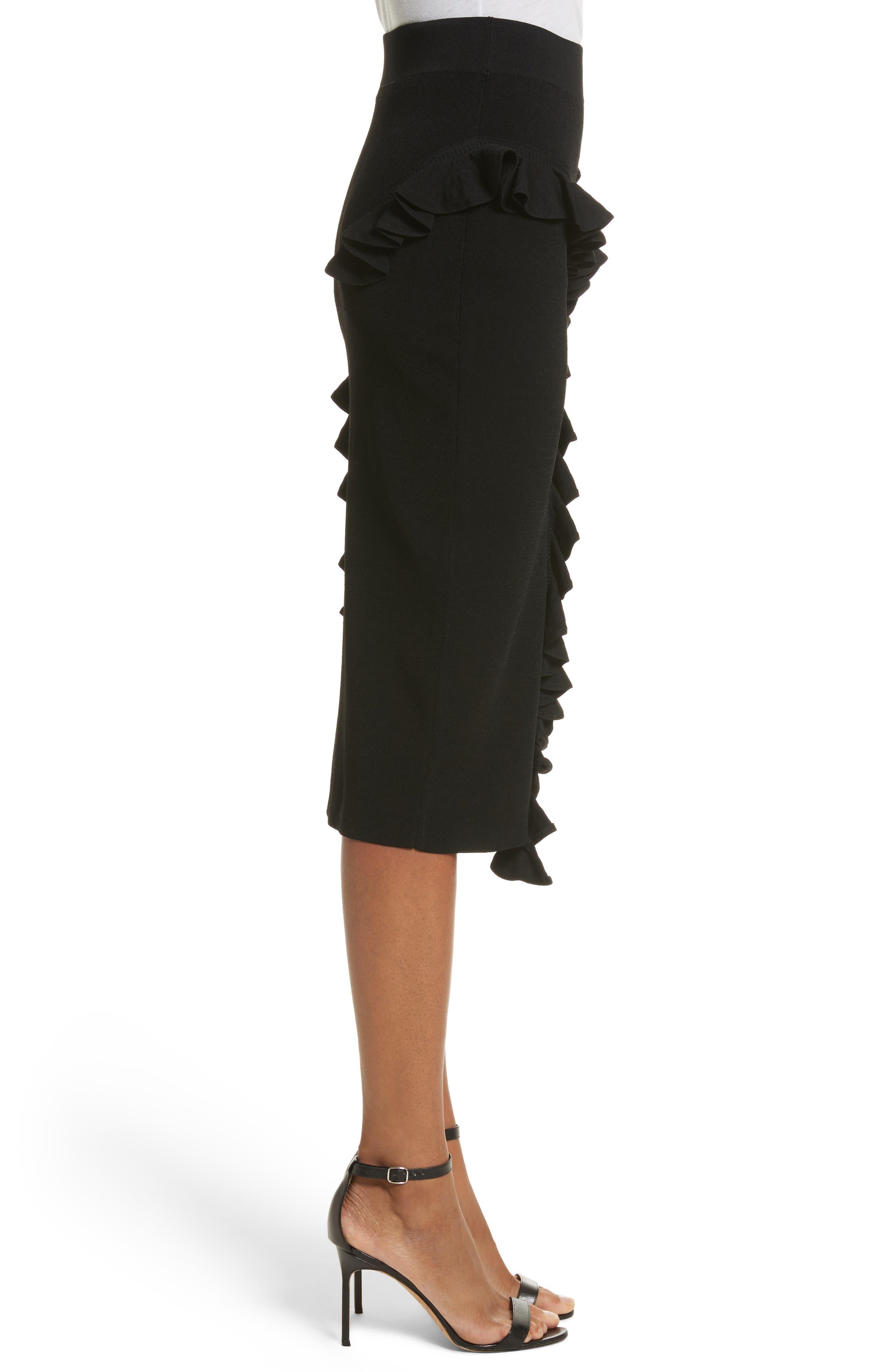 Abstract Ruffle Skirt,                             Alternate thumbnail 3, color,                             001