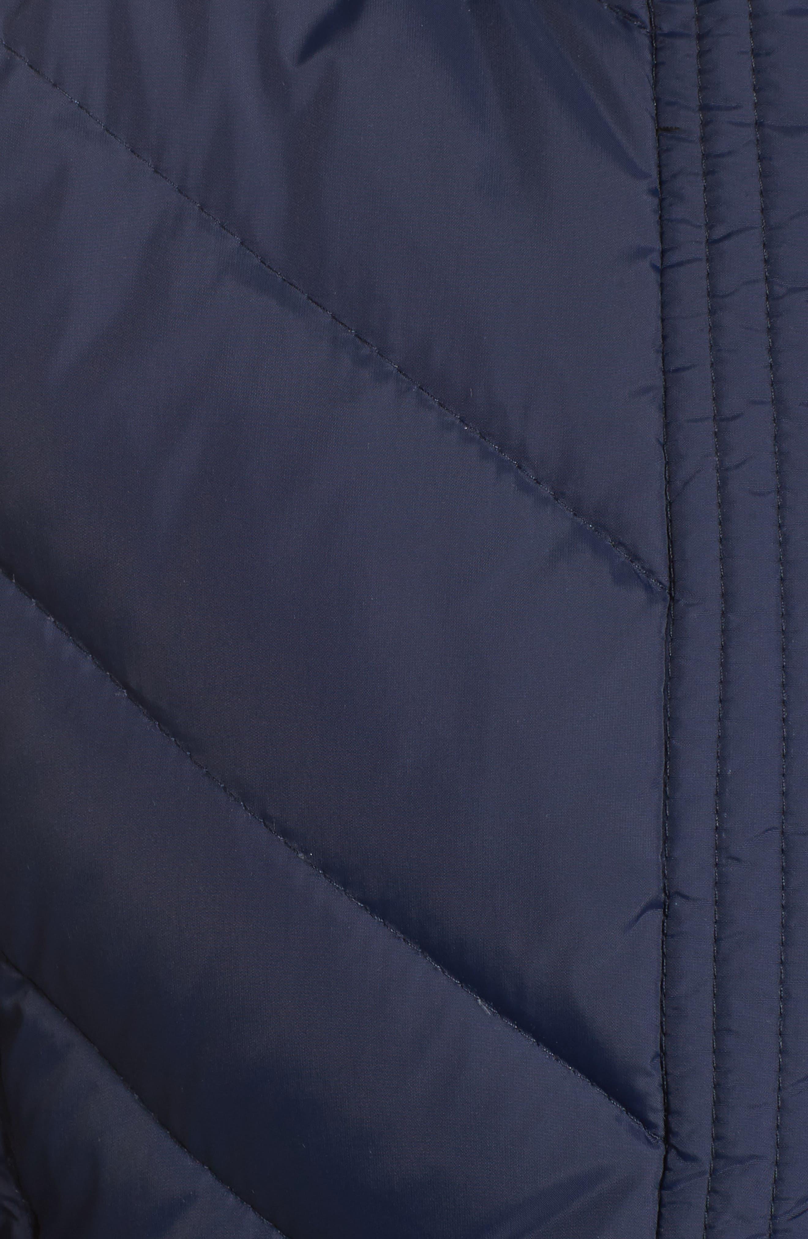 Faux Fur Trim Hooded Jacket,                             Alternate thumbnail 6, color,                             004