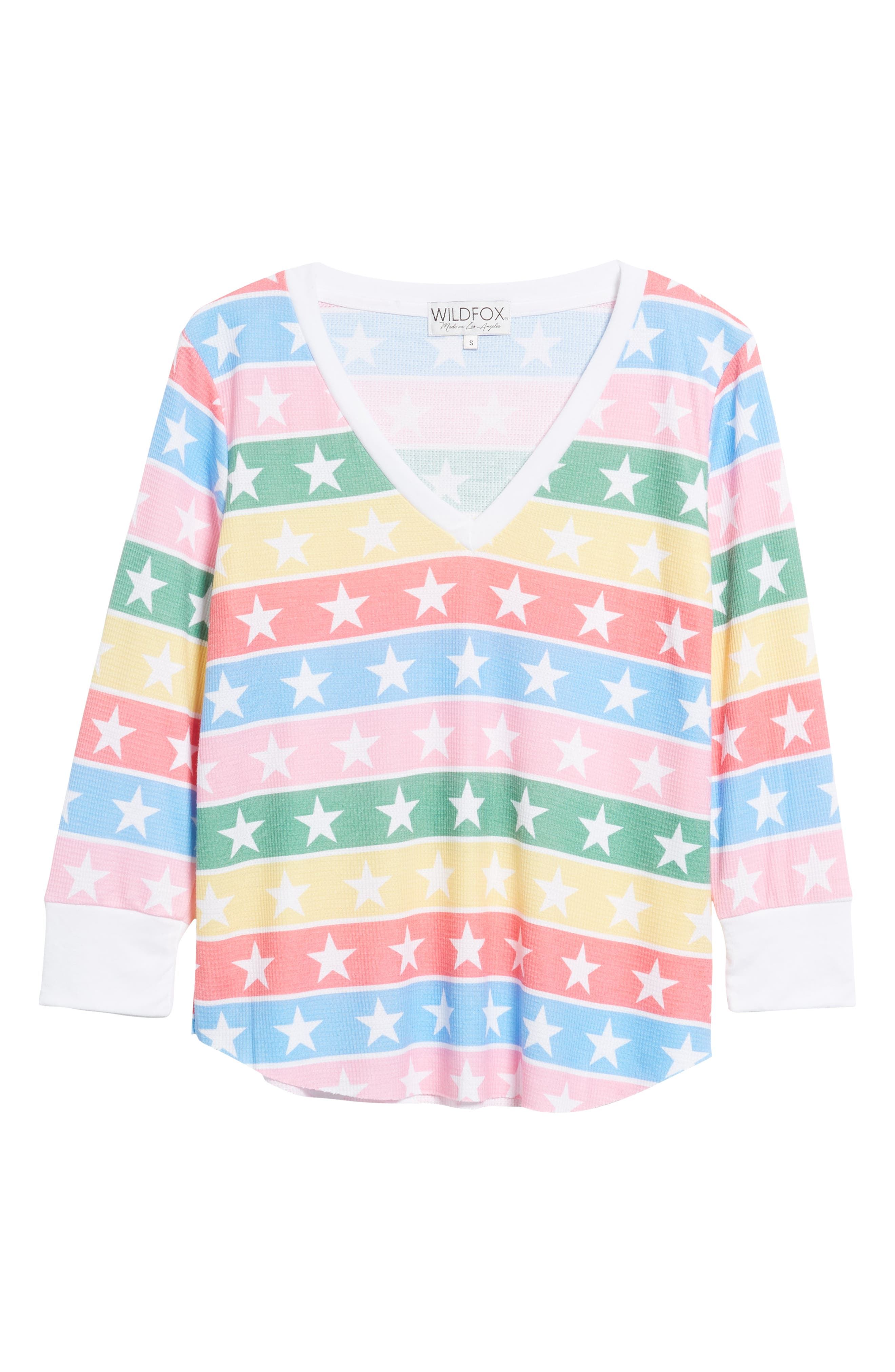 Leroy - Stellar Stripe Thermal Tee,                             Alternate thumbnail 6, color,                             MULTI/ CLEAN WHITE