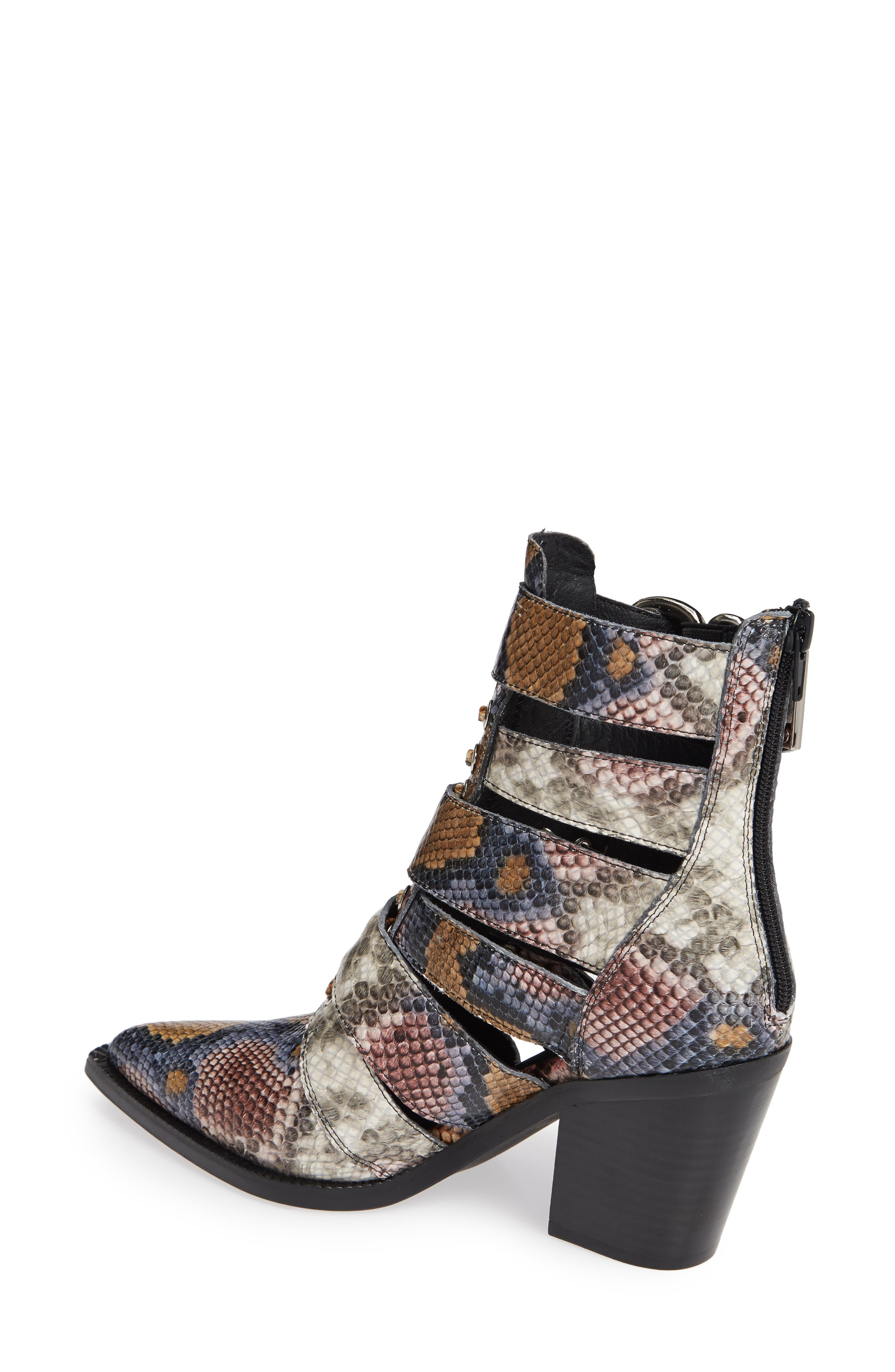Caceres Bootie,                             Alternate thumbnail 2, color,                             GREY WINE SNAKE PRINT