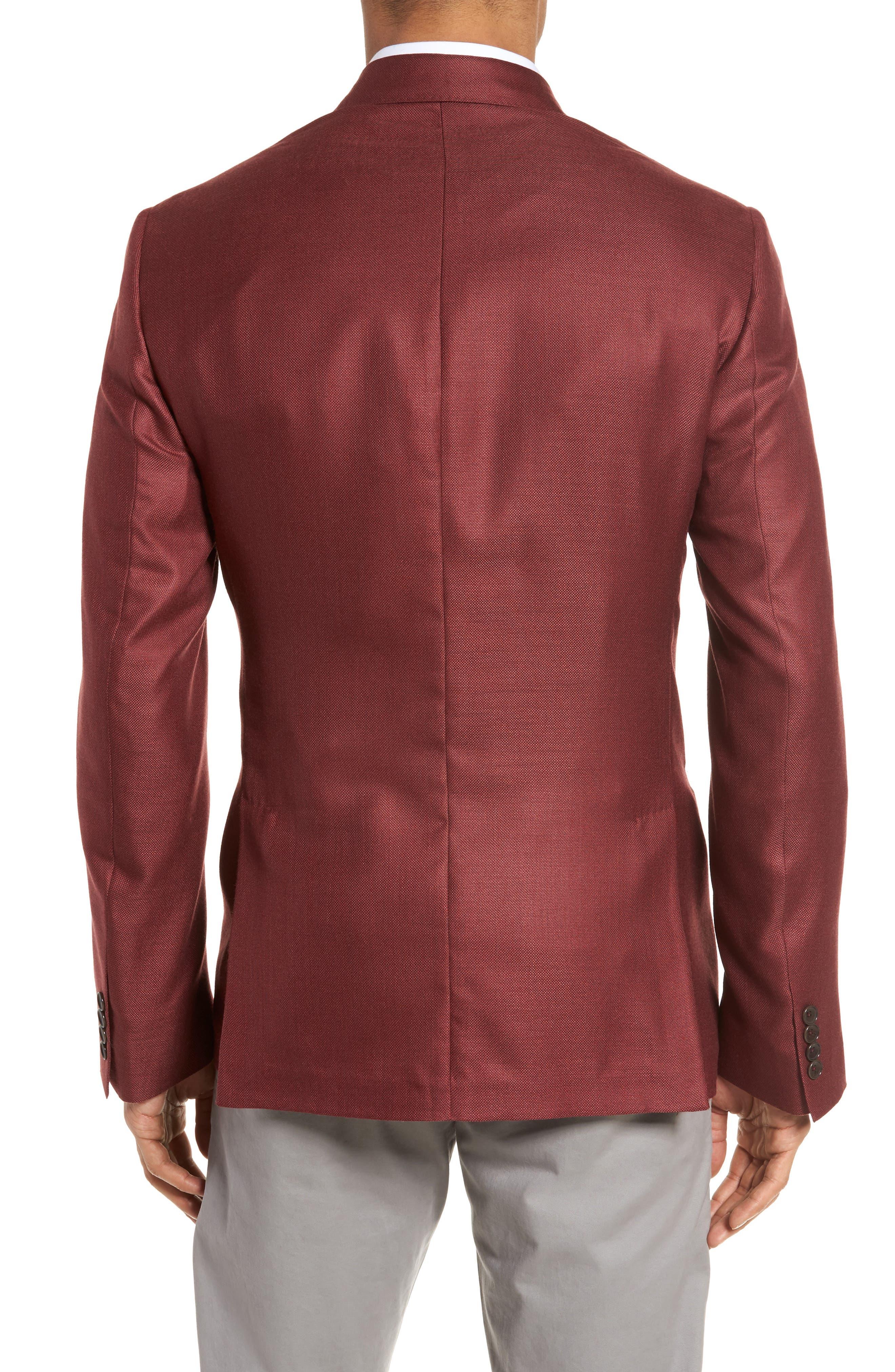 Trim Fit Cashmere & Silk Blazer,                             Alternate thumbnail 8, color,