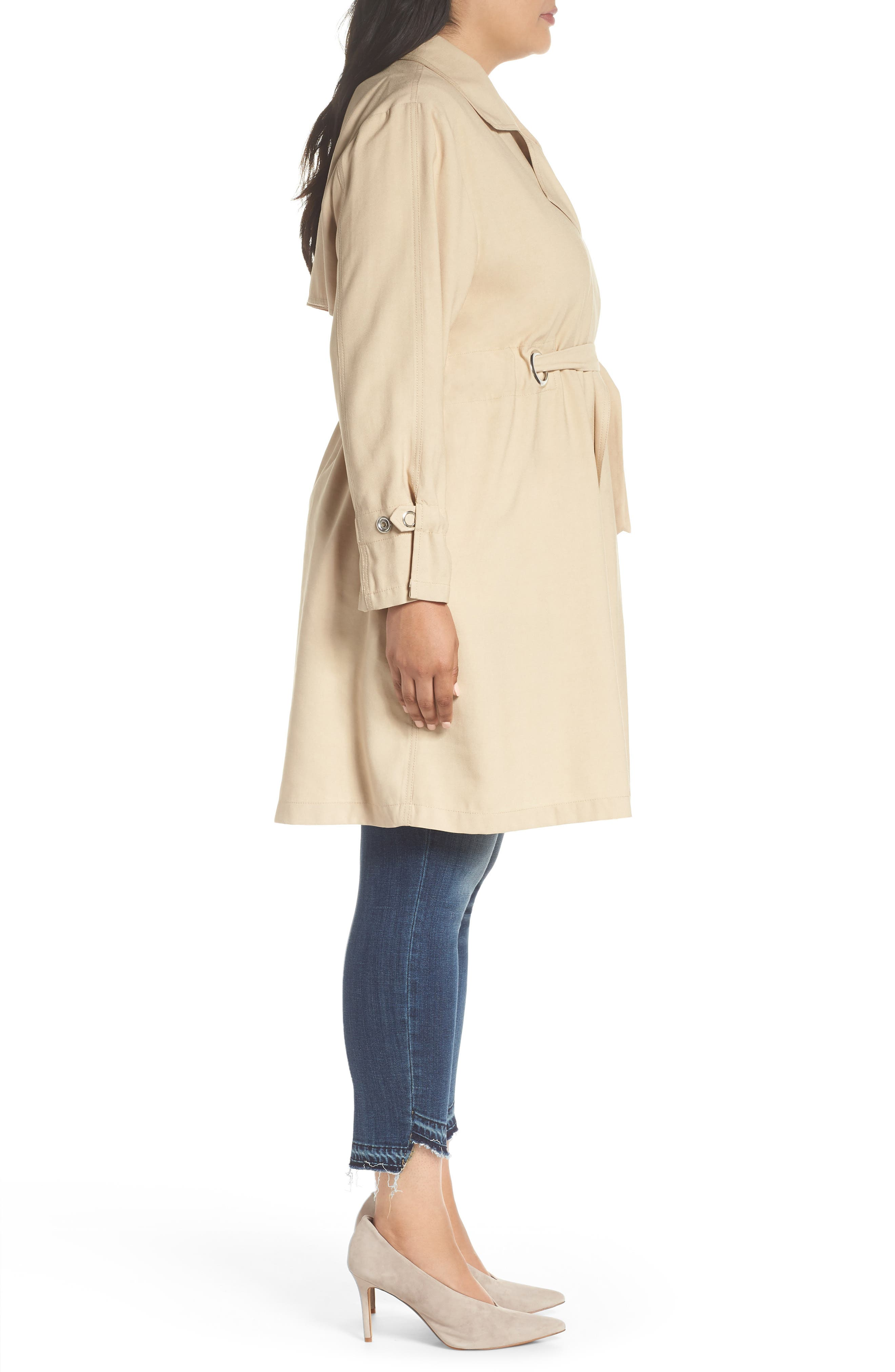 REBEL WILSON X ANGELS,                             Draped Trench Jacket,                             Alternate thumbnail 3, color,                             251