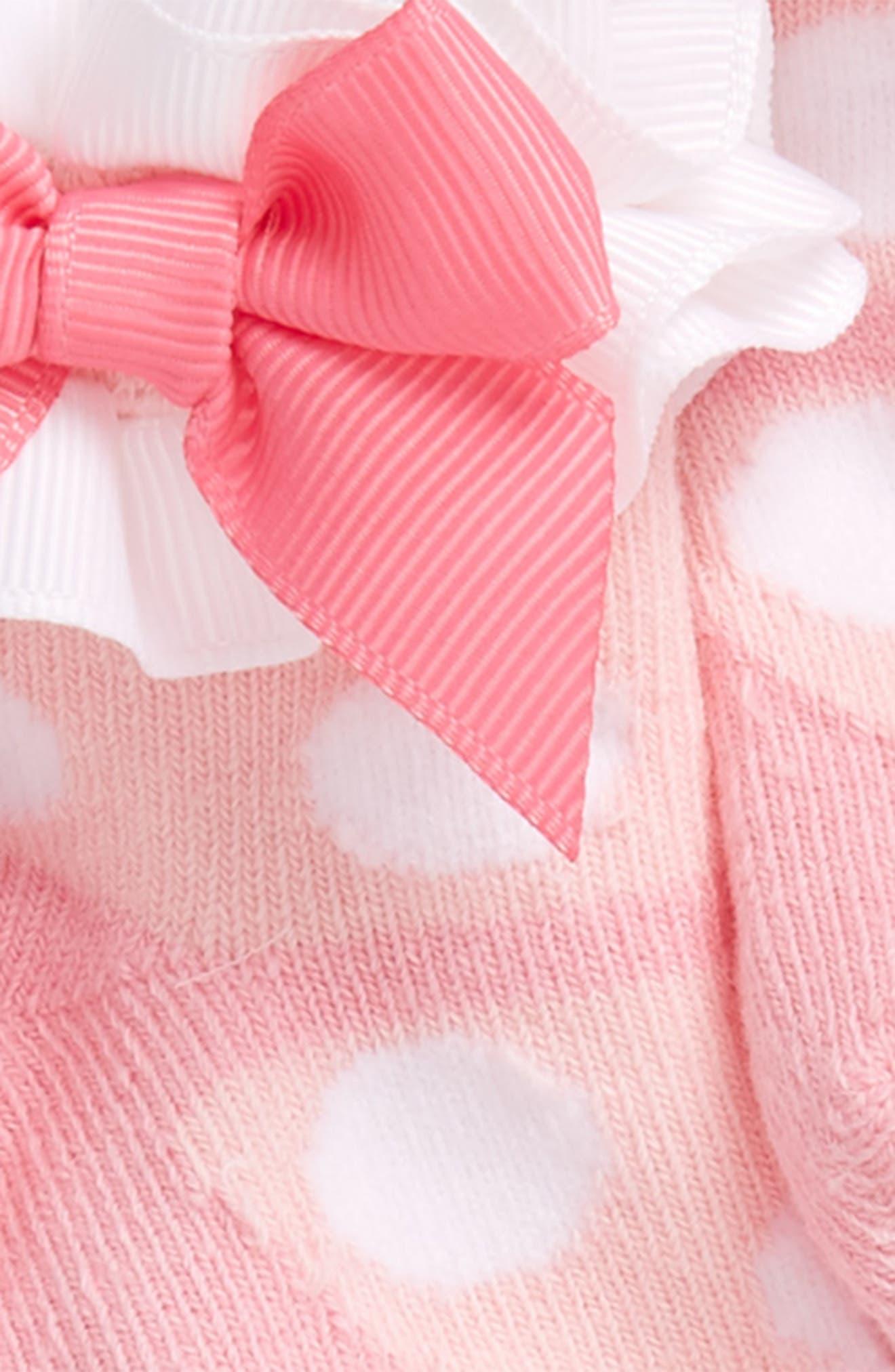 Socks Set,                             Alternate thumbnail 3, color,                             NEW PINK/ WHITE