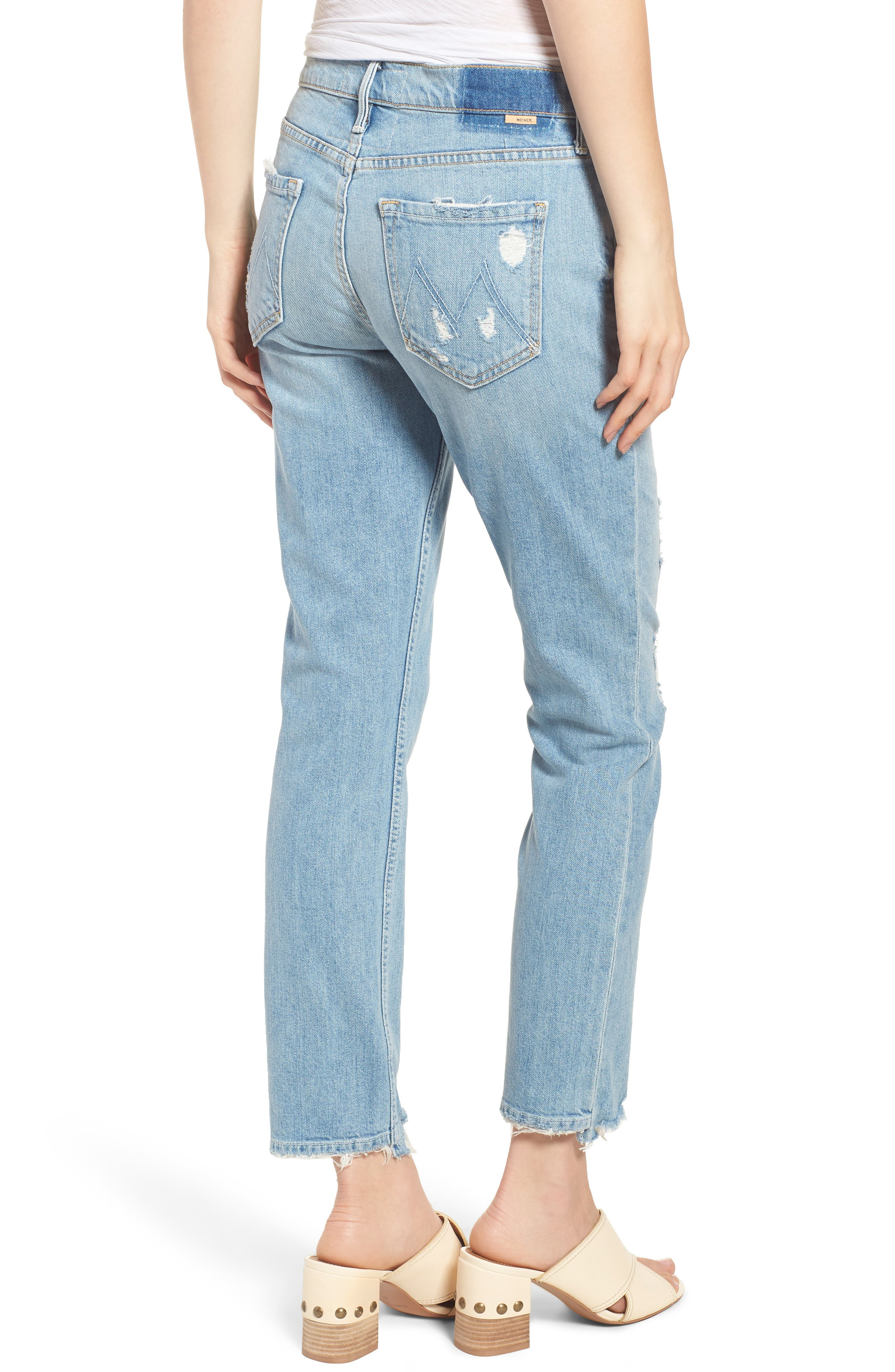The Flirt Ankle Slim Jeans,                             Alternate thumbnail 2, color,                             400
