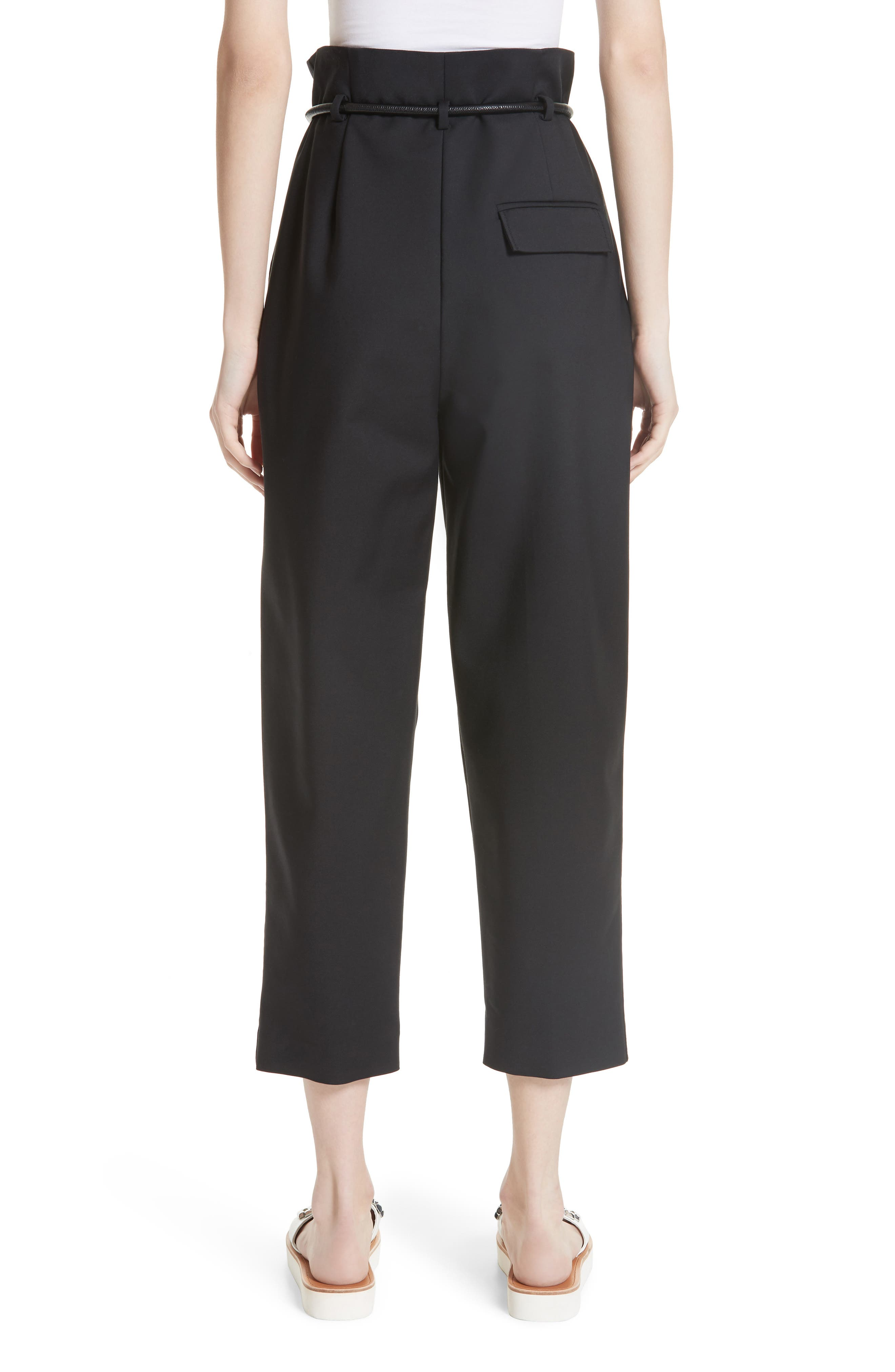 3.1 PHILLIP LIM,                             Origami Crop Flare Pants,                             Alternate thumbnail 2, color,                             001