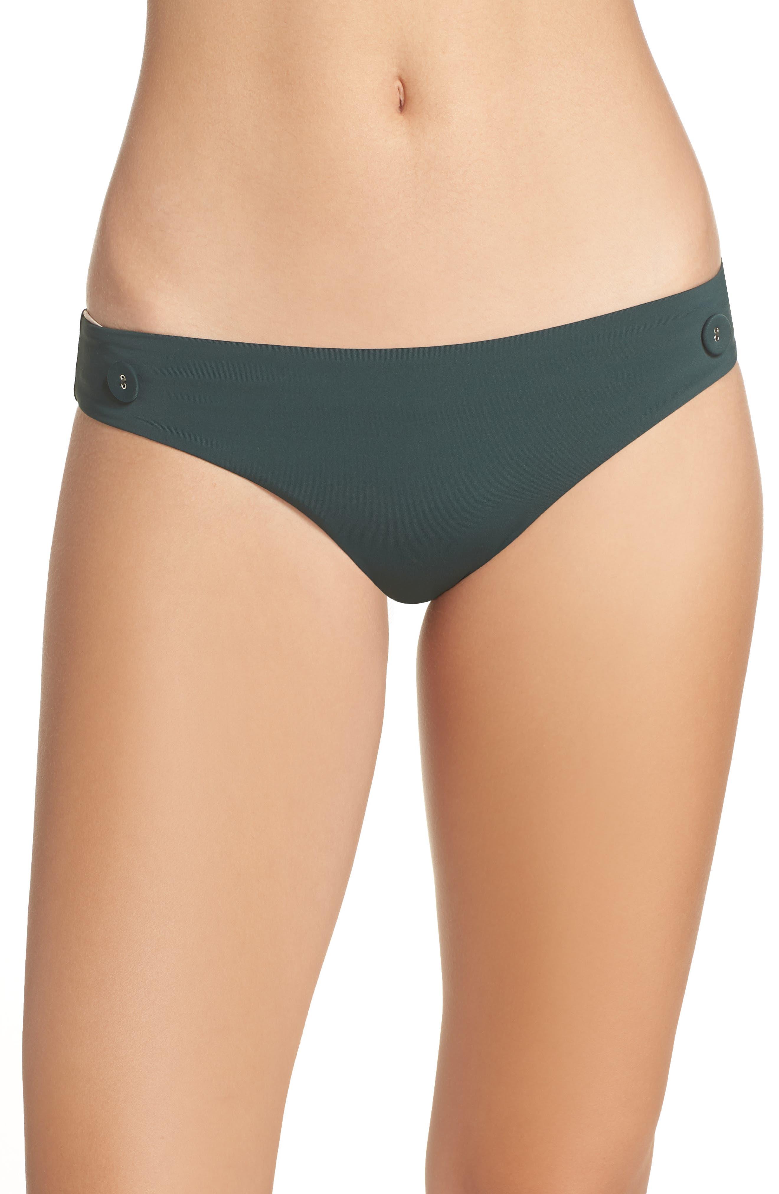 Onia Lily Hipster Bikini Bottoms, Green
