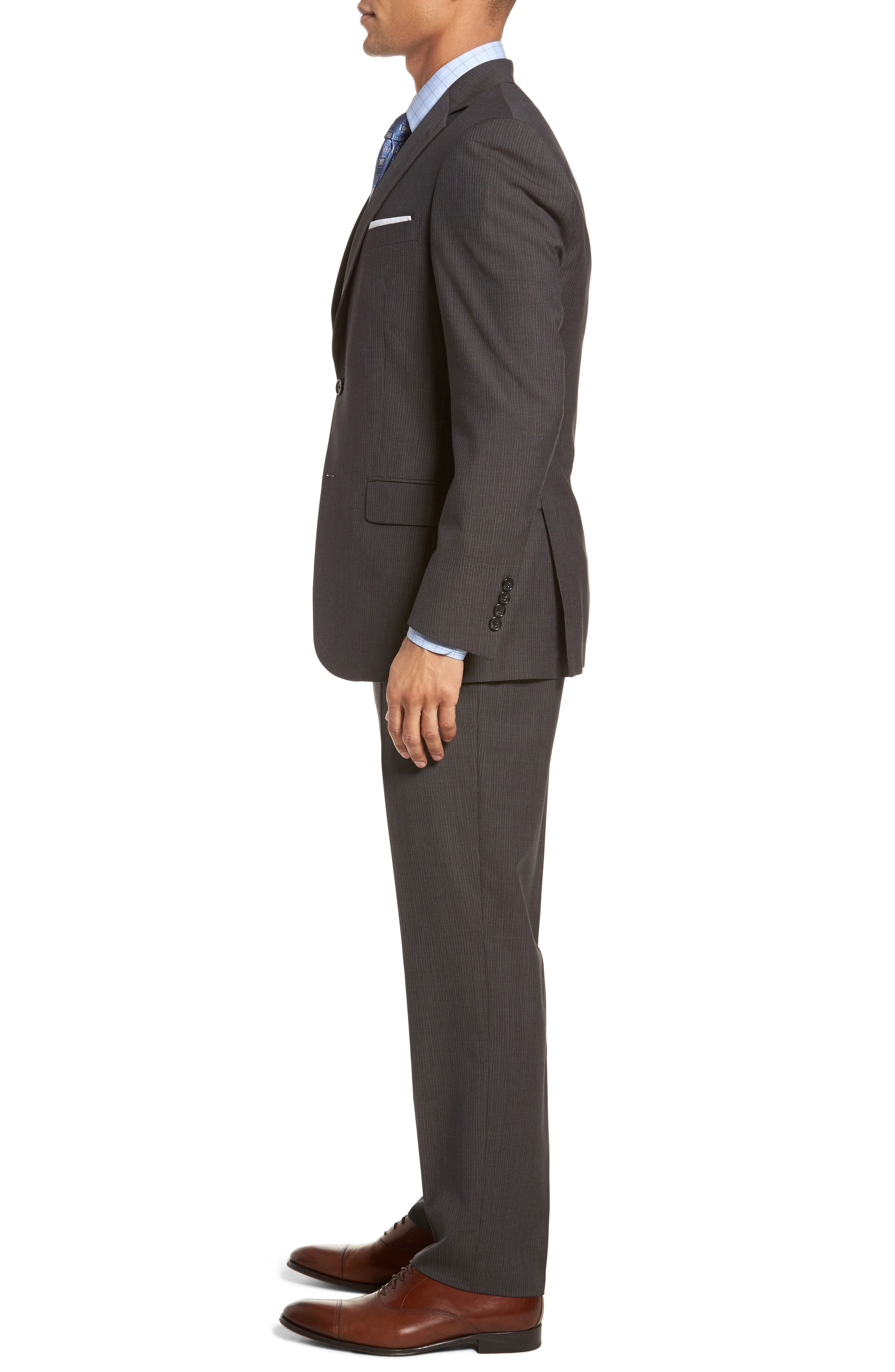 New York Classic Fit Stripe Wool Suit,                             Alternate thumbnail 3, color,                             020