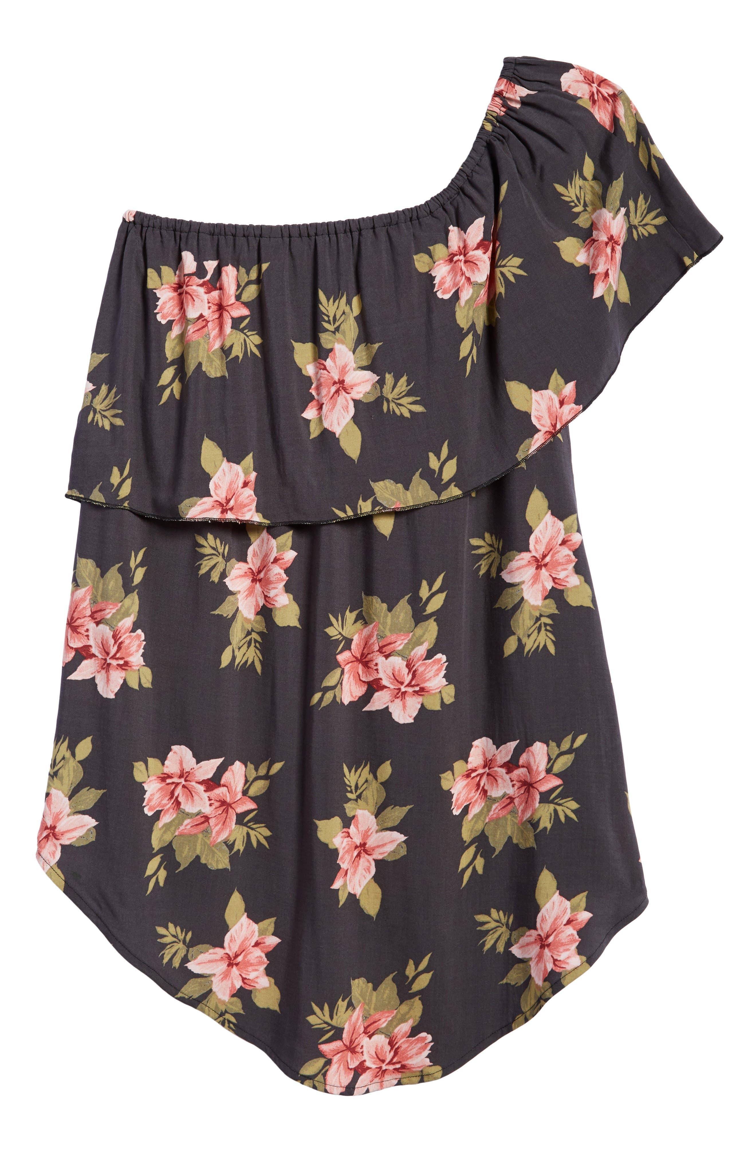 Haley One-Shoulder Dress,                             Alternate thumbnail 2, color,                             021