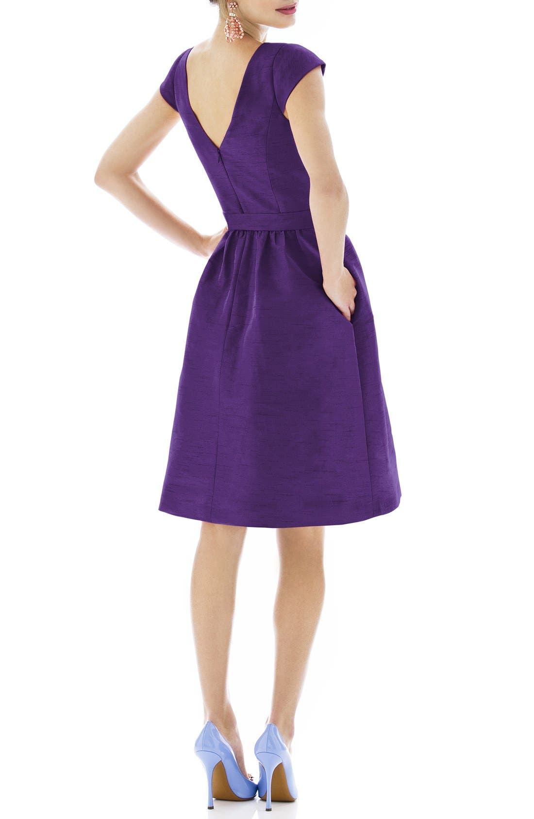 Woven Fit & Flare Dress,                             Alternate thumbnail 22, color,