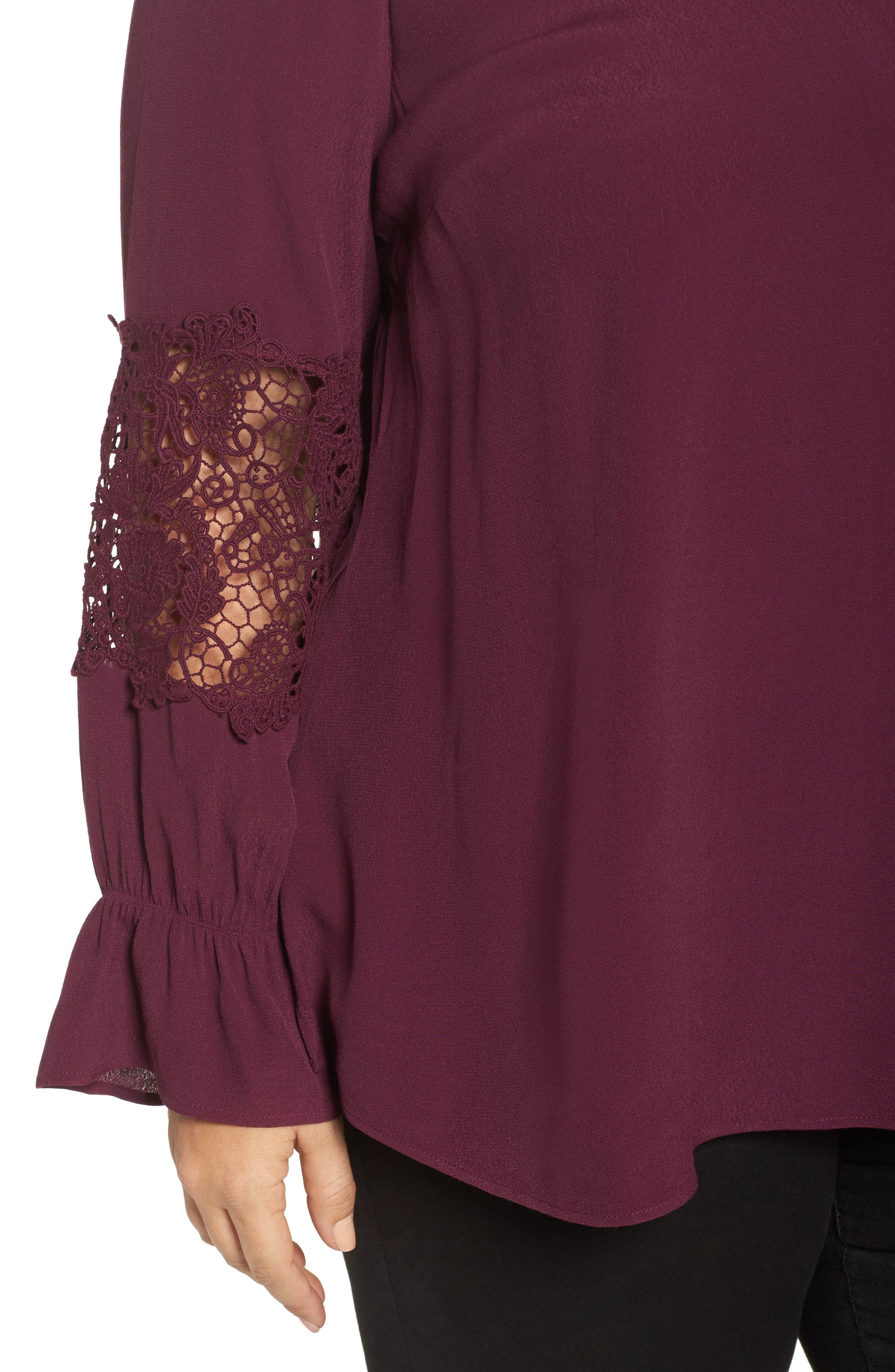 Bell Sleeve Lace Top,                             Alternate thumbnail 8, color,