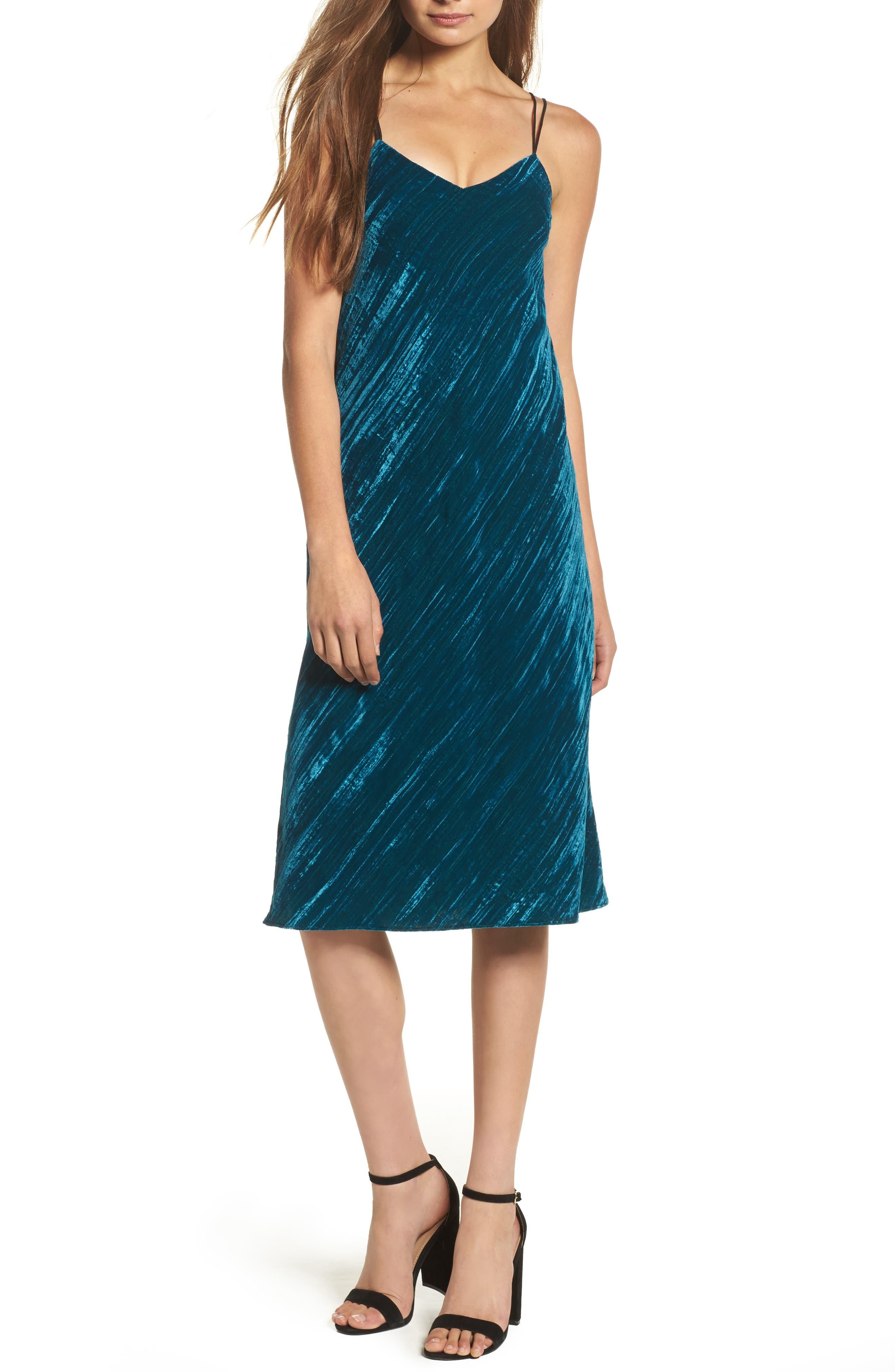 Velvet Slipdress,                         Main,                         color,
