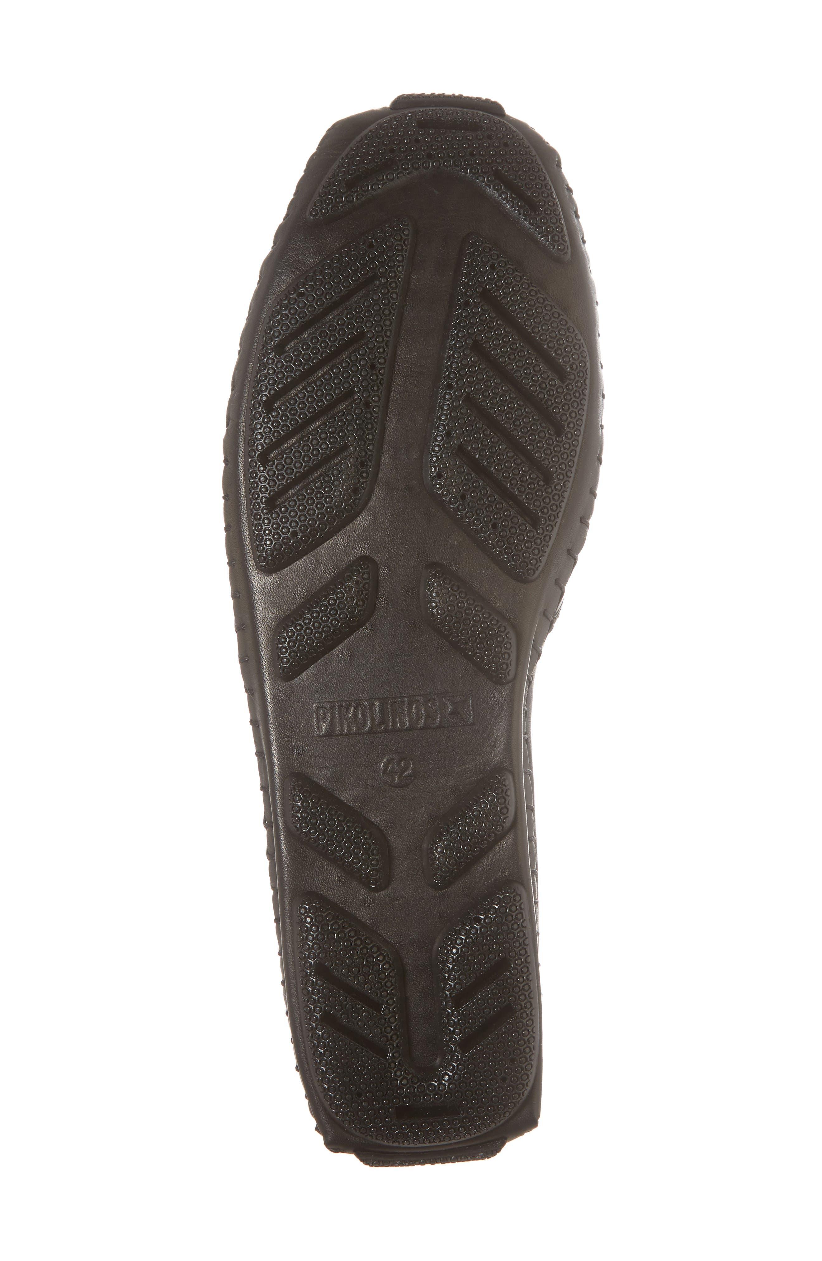 Jerez Driving Shoe,                             Alternate thumbnail 6, color,                             BLACK LEATHER