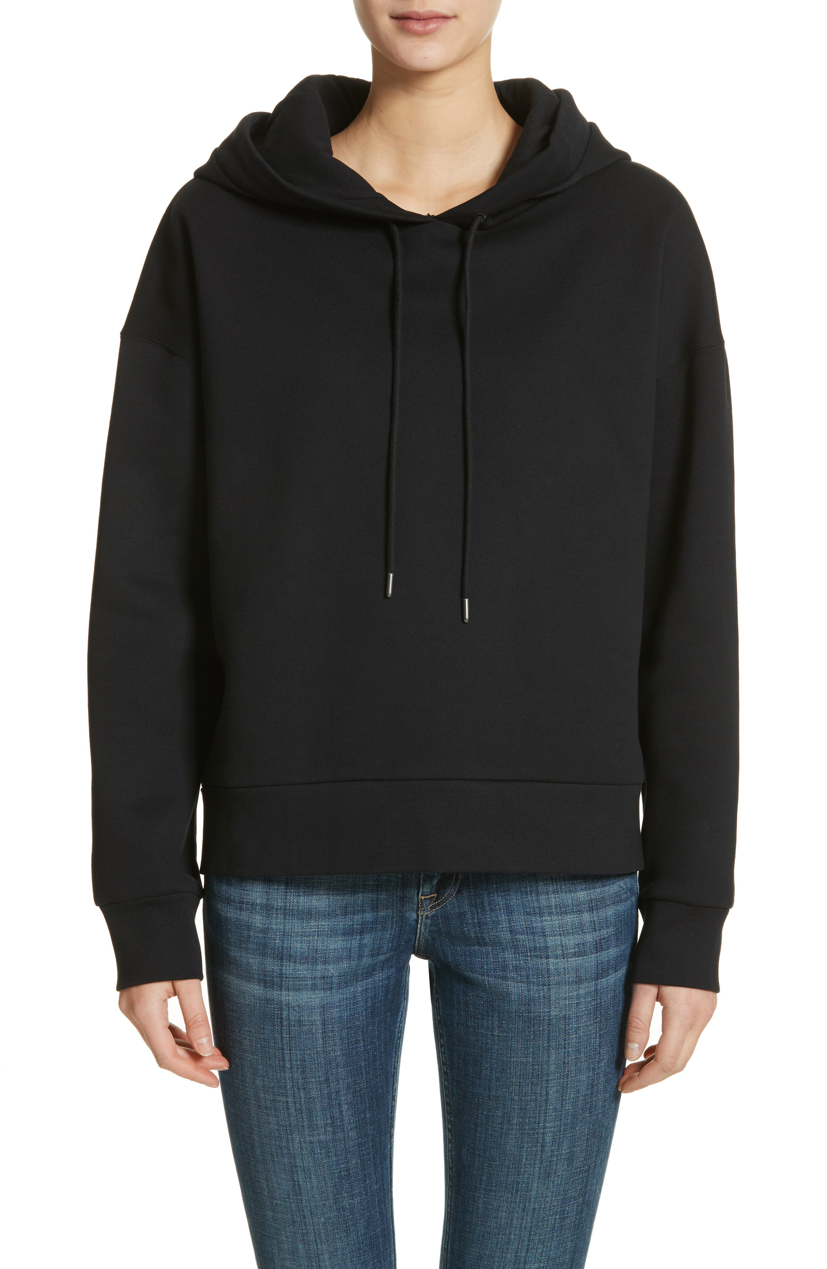 Escara Embroidered Hoodie,                         Main,                         color, 001