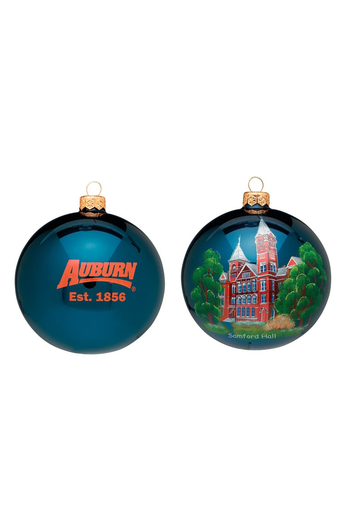 'Collegiate' Ball Ornament,                             Main thumbnail 1, color,                             AUBURN UNIVERSITY