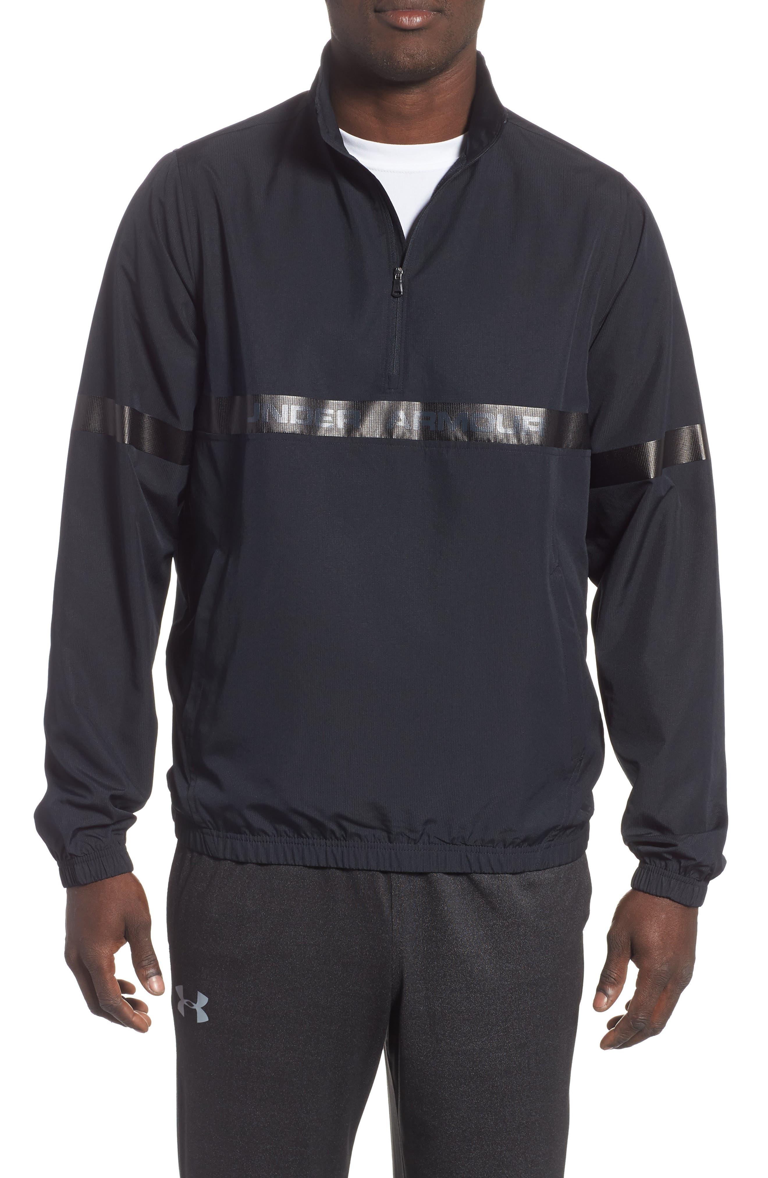 Under Armour Sportstyle Half Zip Pullover, Black