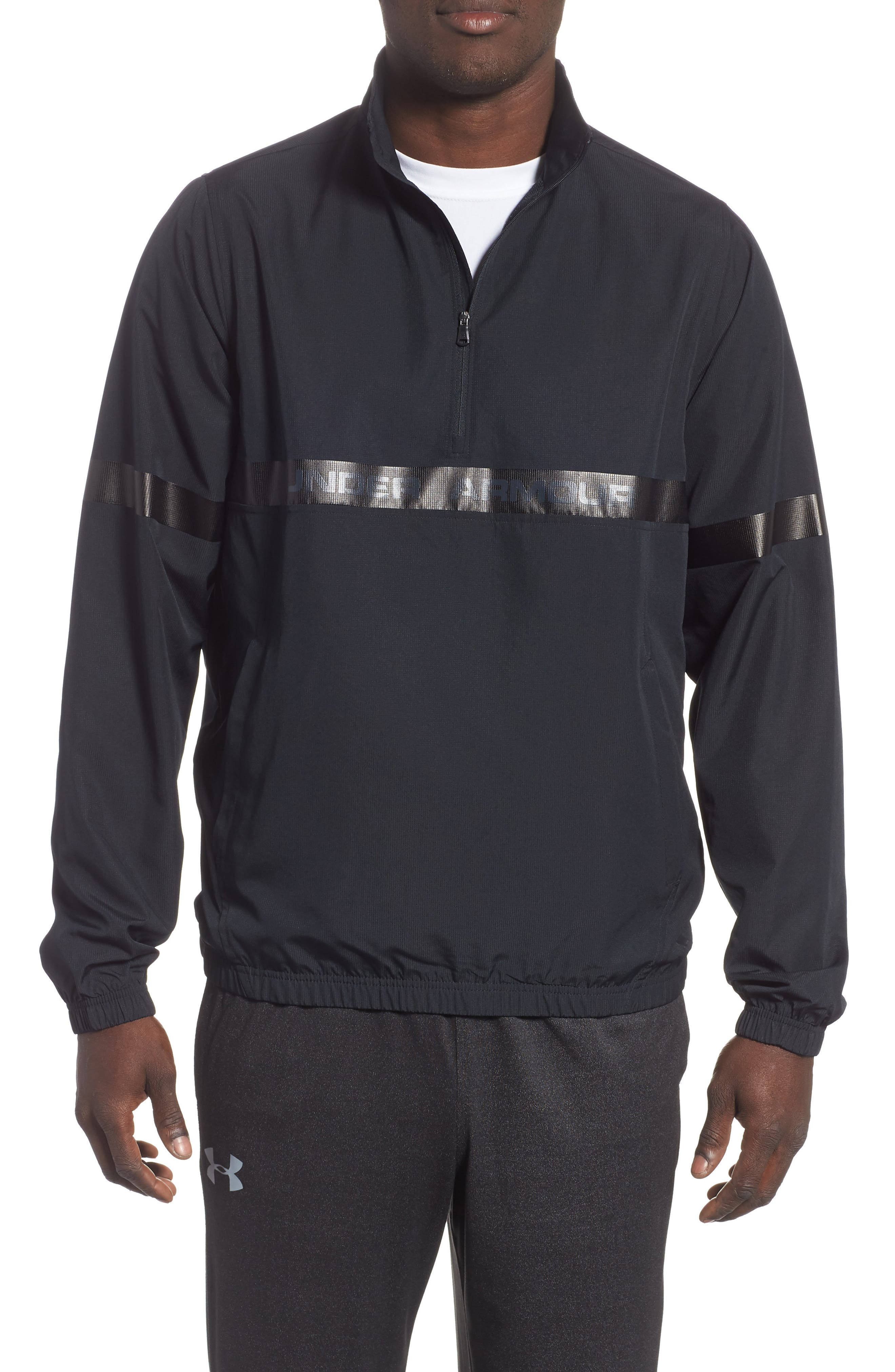 Sportstyle Half Zip Pullover,                             Main thumbnail 1, color,                             BLACK