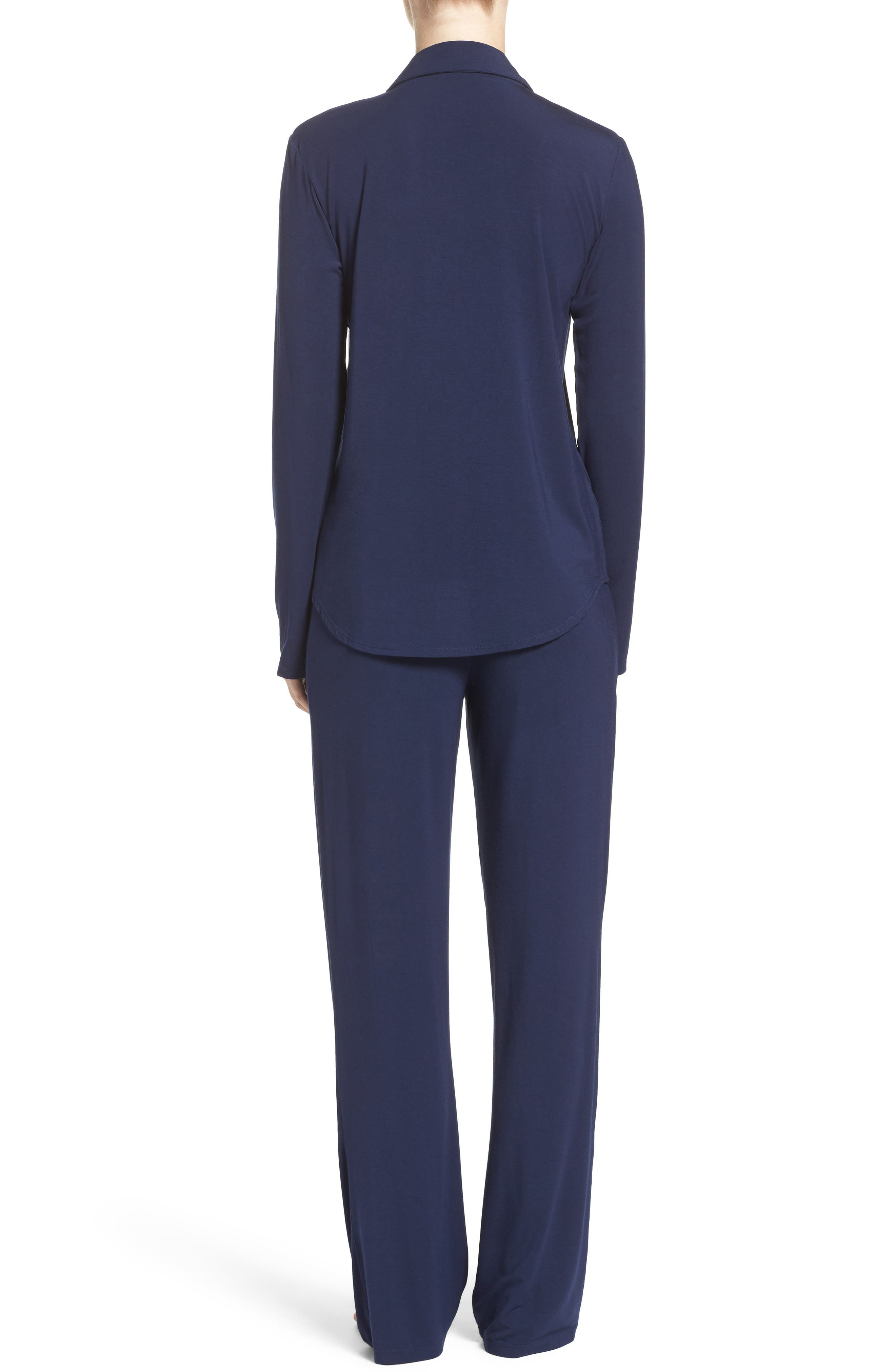 Stretch Modal Pajamas,                             Alternate thumbnail 2, color,                             PEACOAT BLUE
