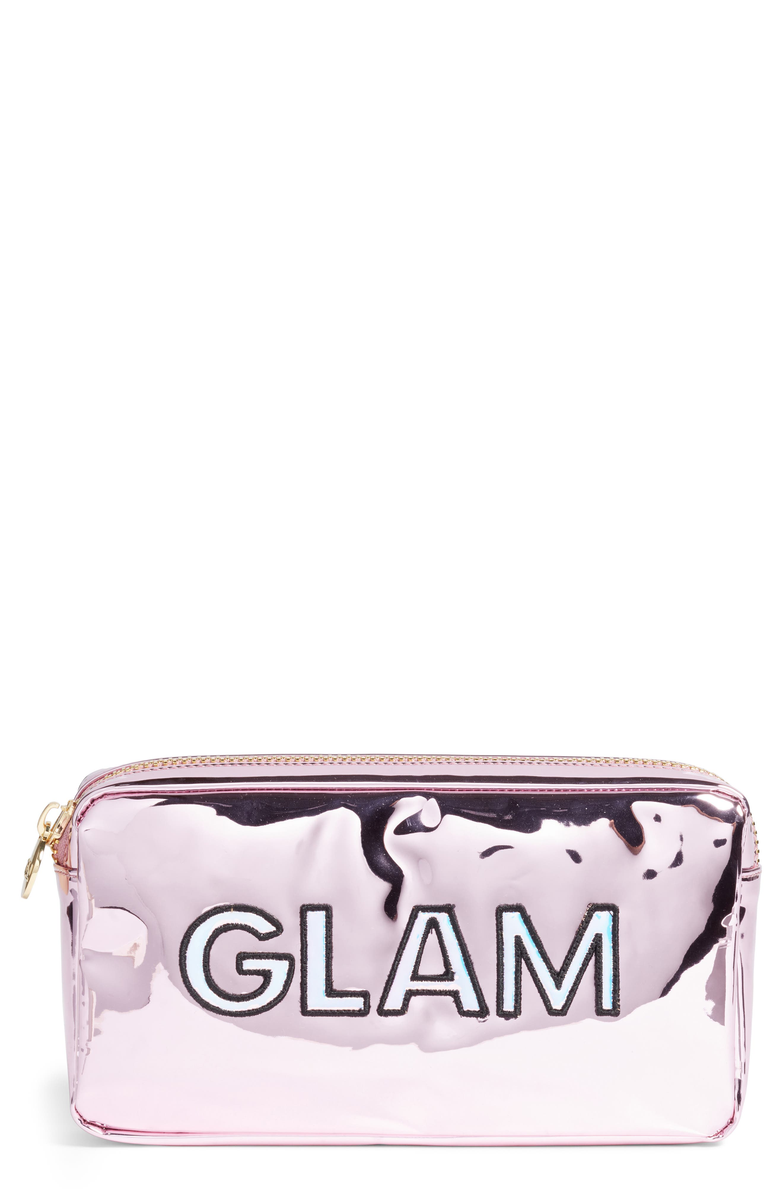 STONEY CLOVER LANE Small Patent Pouch in Pink