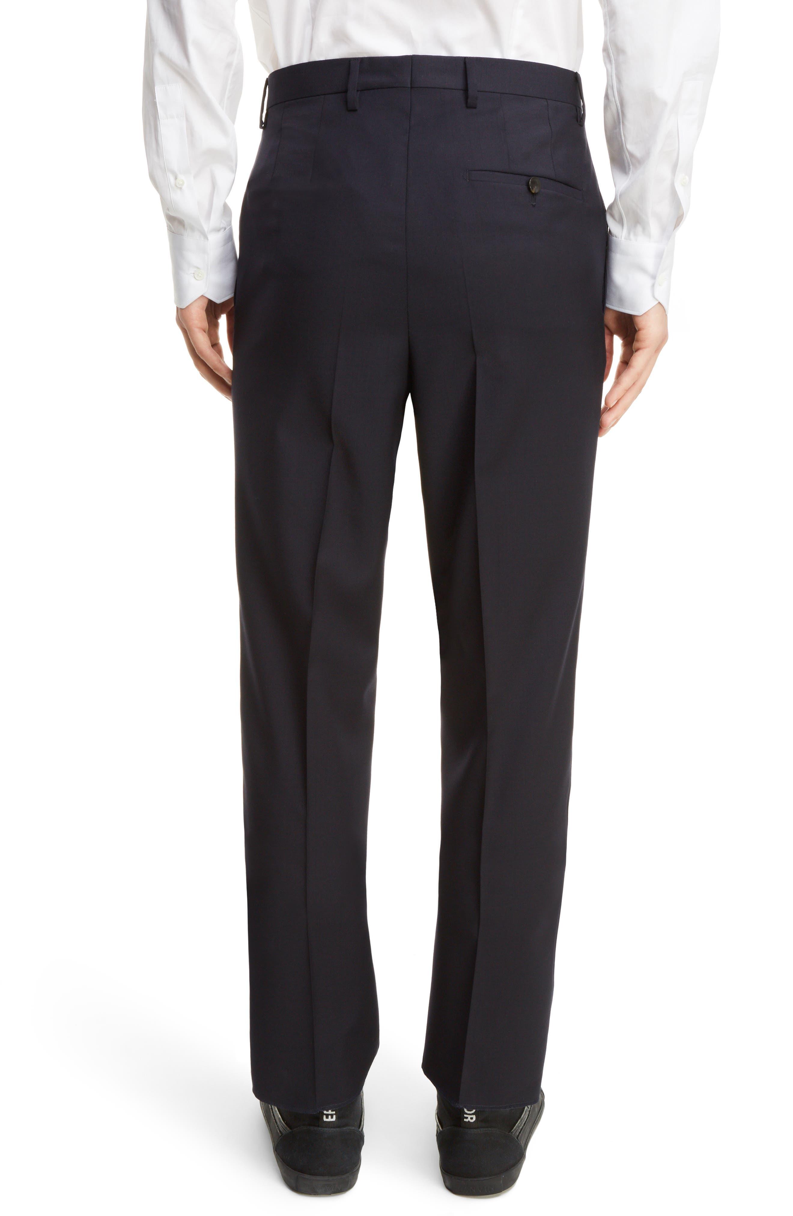 Tropical Wool Suit Trousers,                             Alternate thumbnail 4, color,