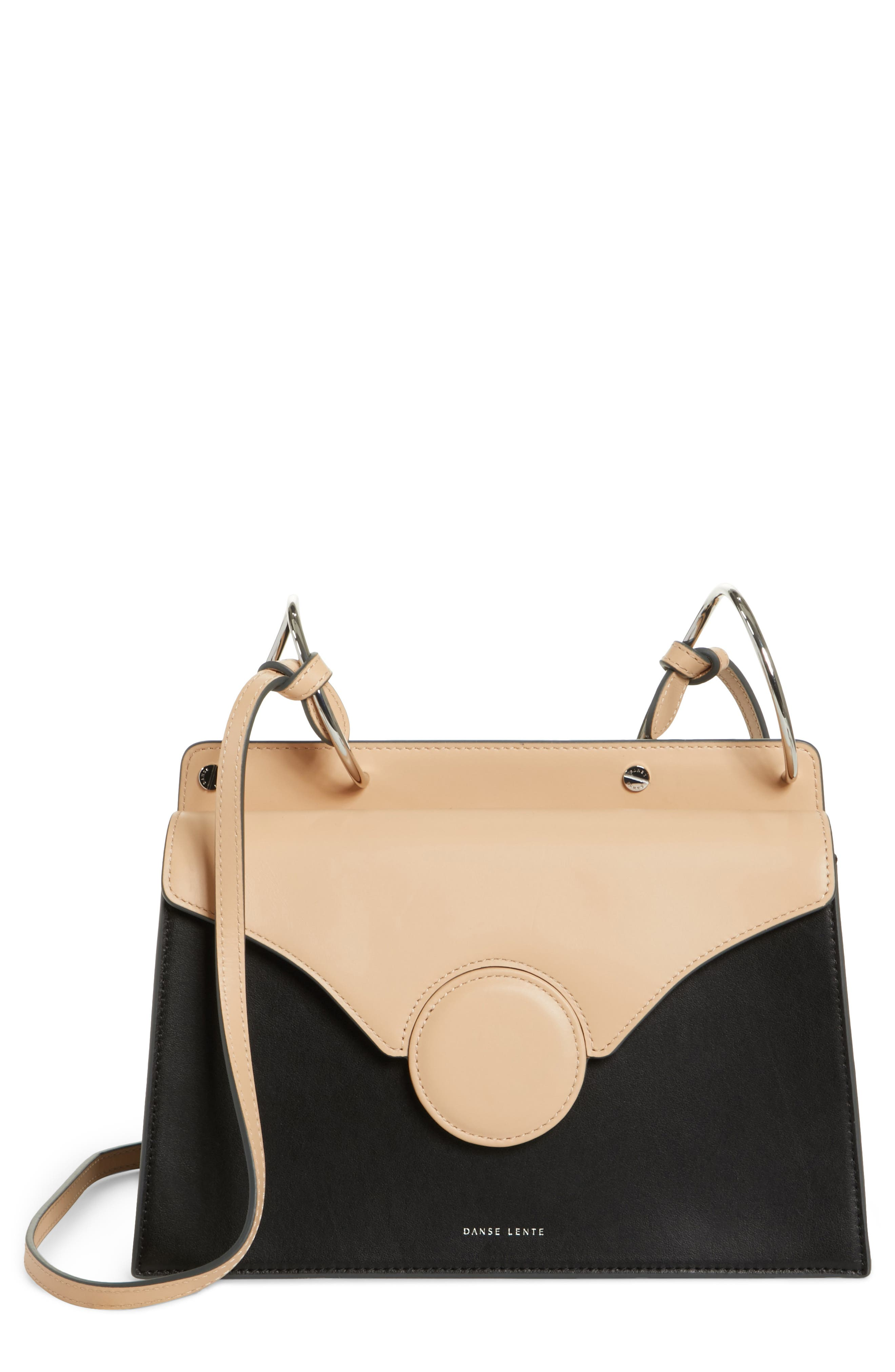 Phoebe Leather Crossbody Bag,                         Main,                         color, NUDE