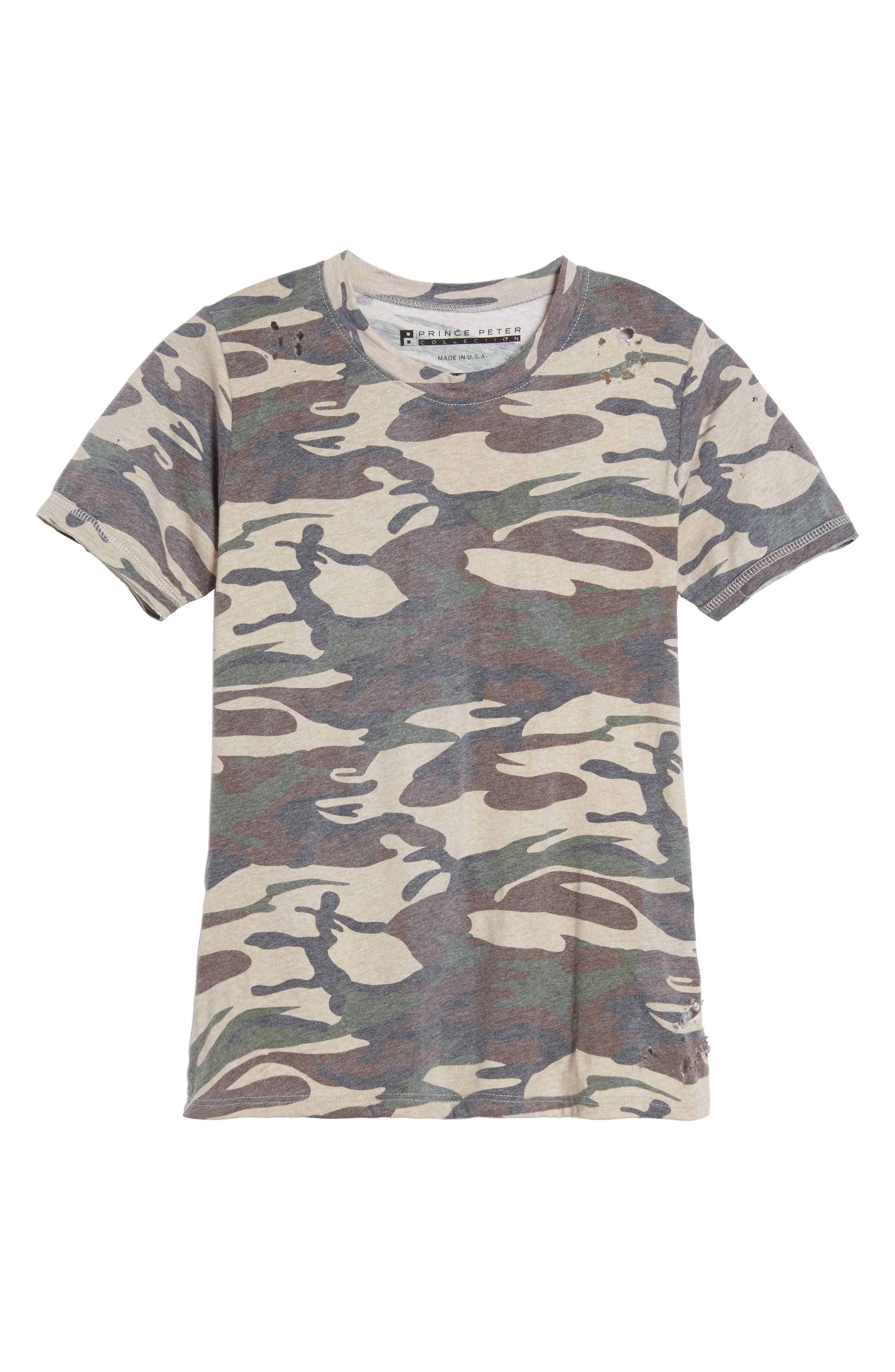 Distressed Camo Tee,                             Alternate thumbnail 6, color,                             300