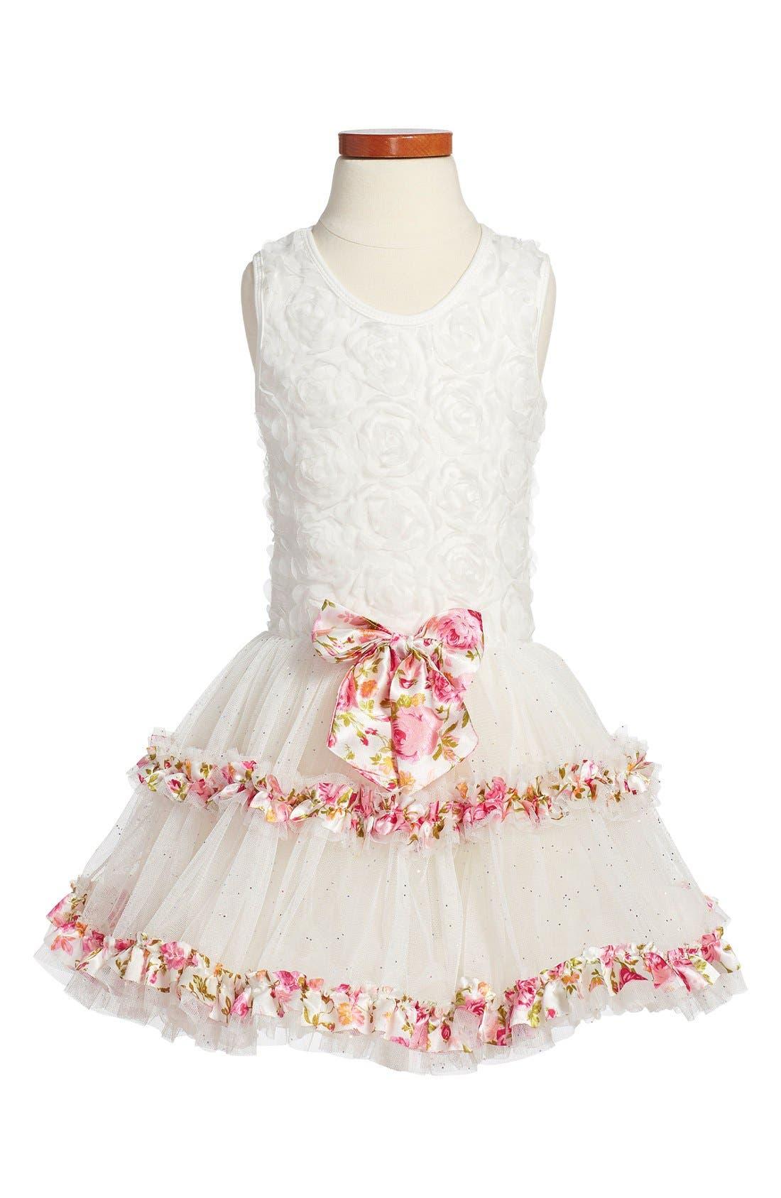 Petticoat Skirt Tank Dress,                             Main thumbnail 1, color,                             110