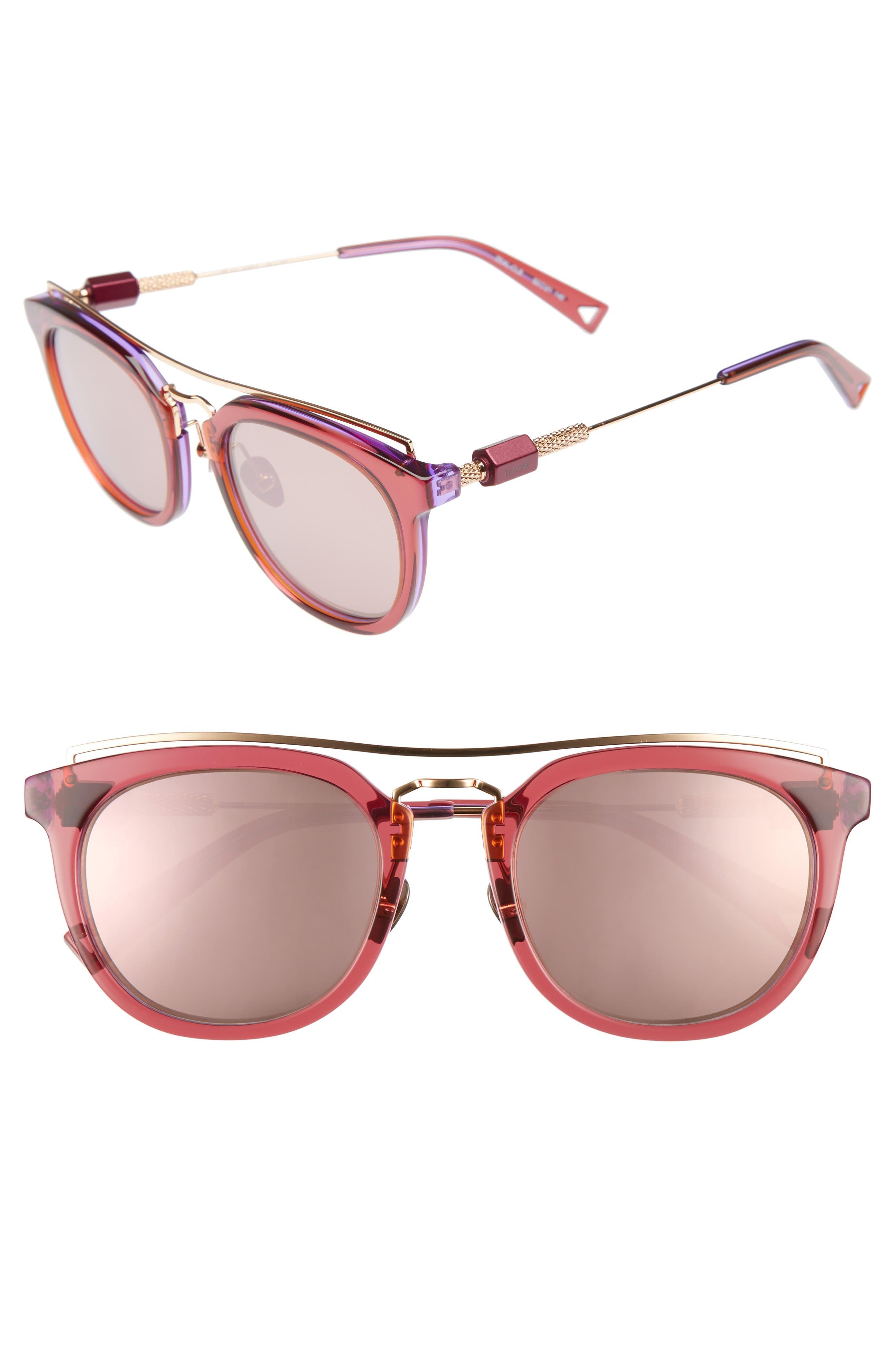 Zeal 52mm Aviator Sunglasses,                             Main thumbnail 5, color,