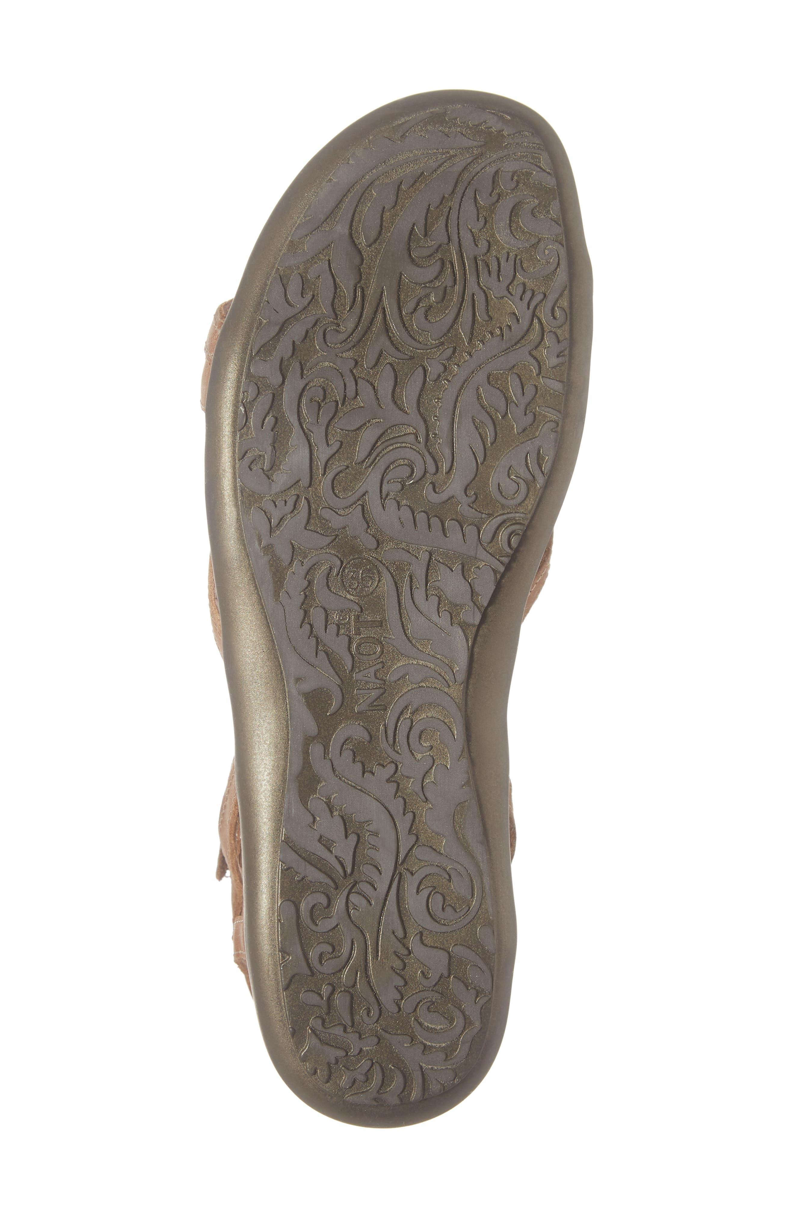 'Dorith' Sandal,                             Alternate thumbnail 6, color,                             LATTE BROWN LEATHER