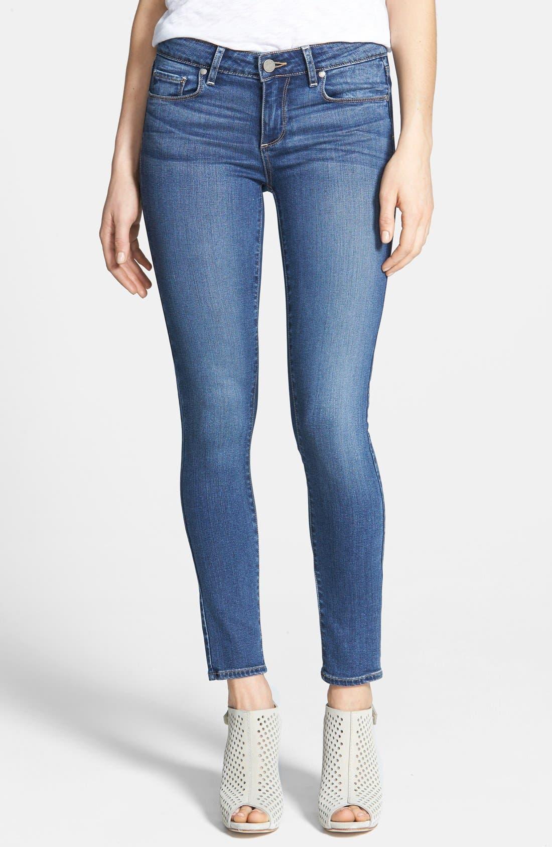 Transcend - Verdugo Ankle Skinny Jeans,                             Main thumbnail 1, color,                             TRISTAN
