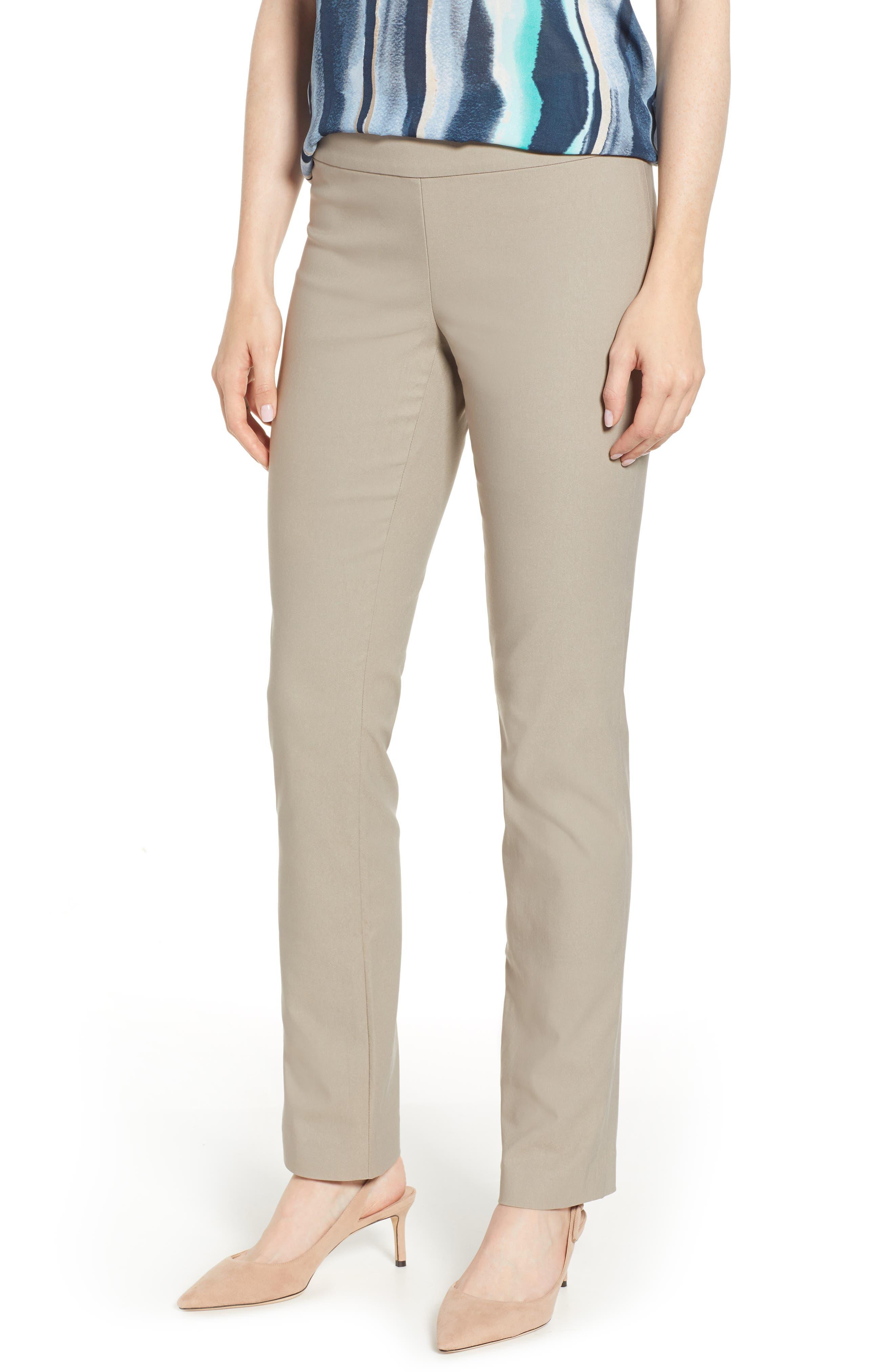 Wonderstretch Straight Leg Pants, Main, color, LATTE