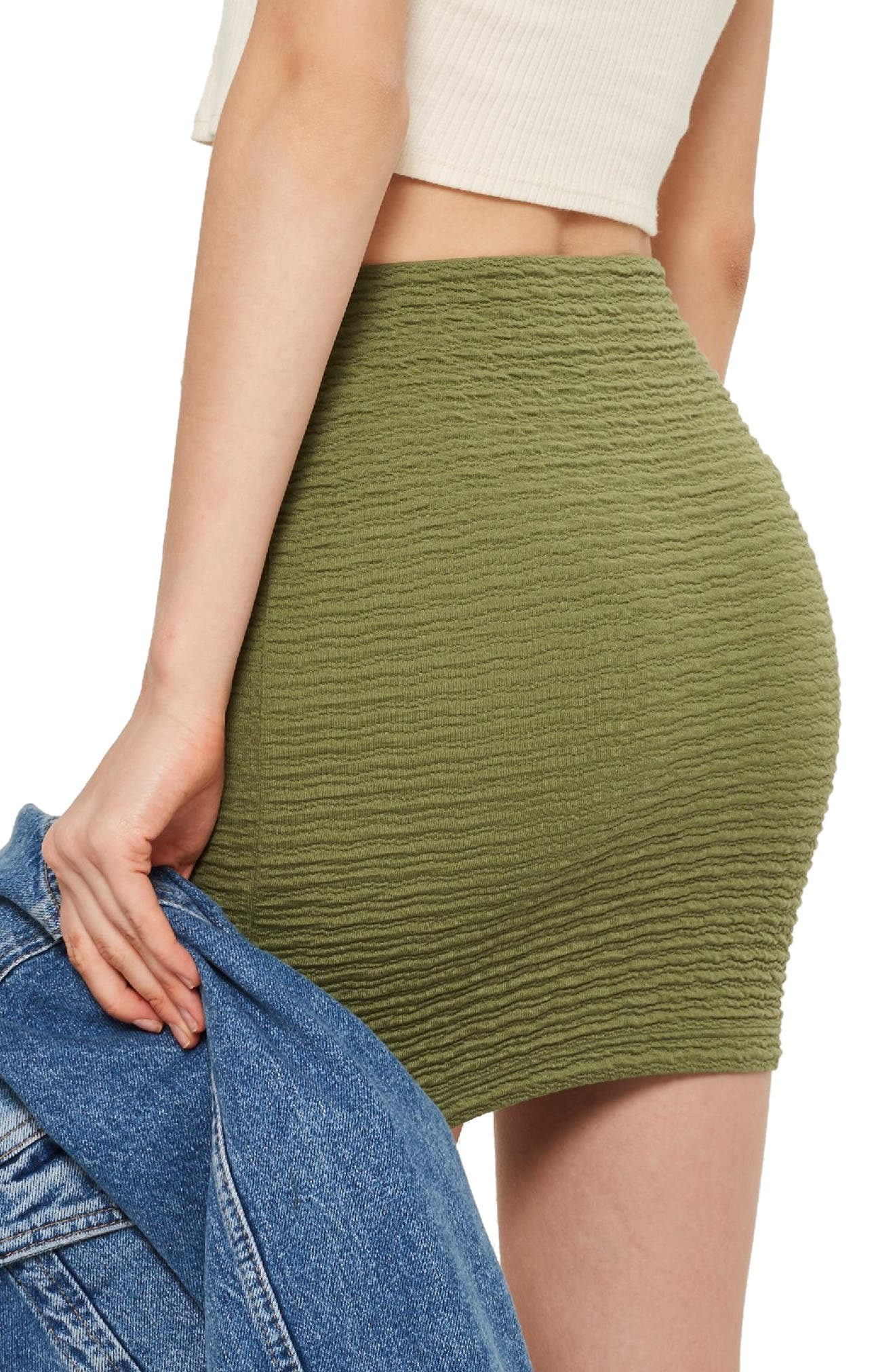 Textured Miniskirt,                             Alternate thumbnail 2, color,                             300