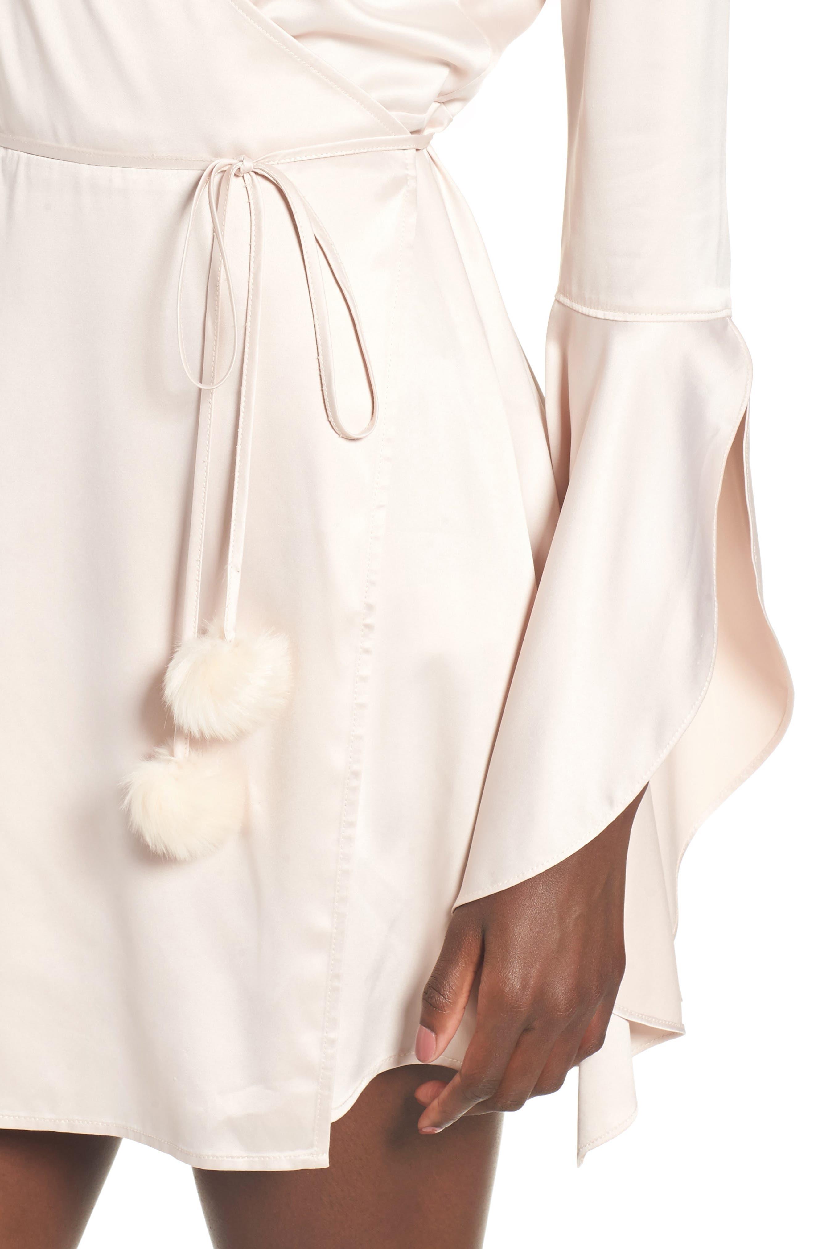 Hex Wrap Minidress,                             Alternate thumbnail 4, color,                             900
