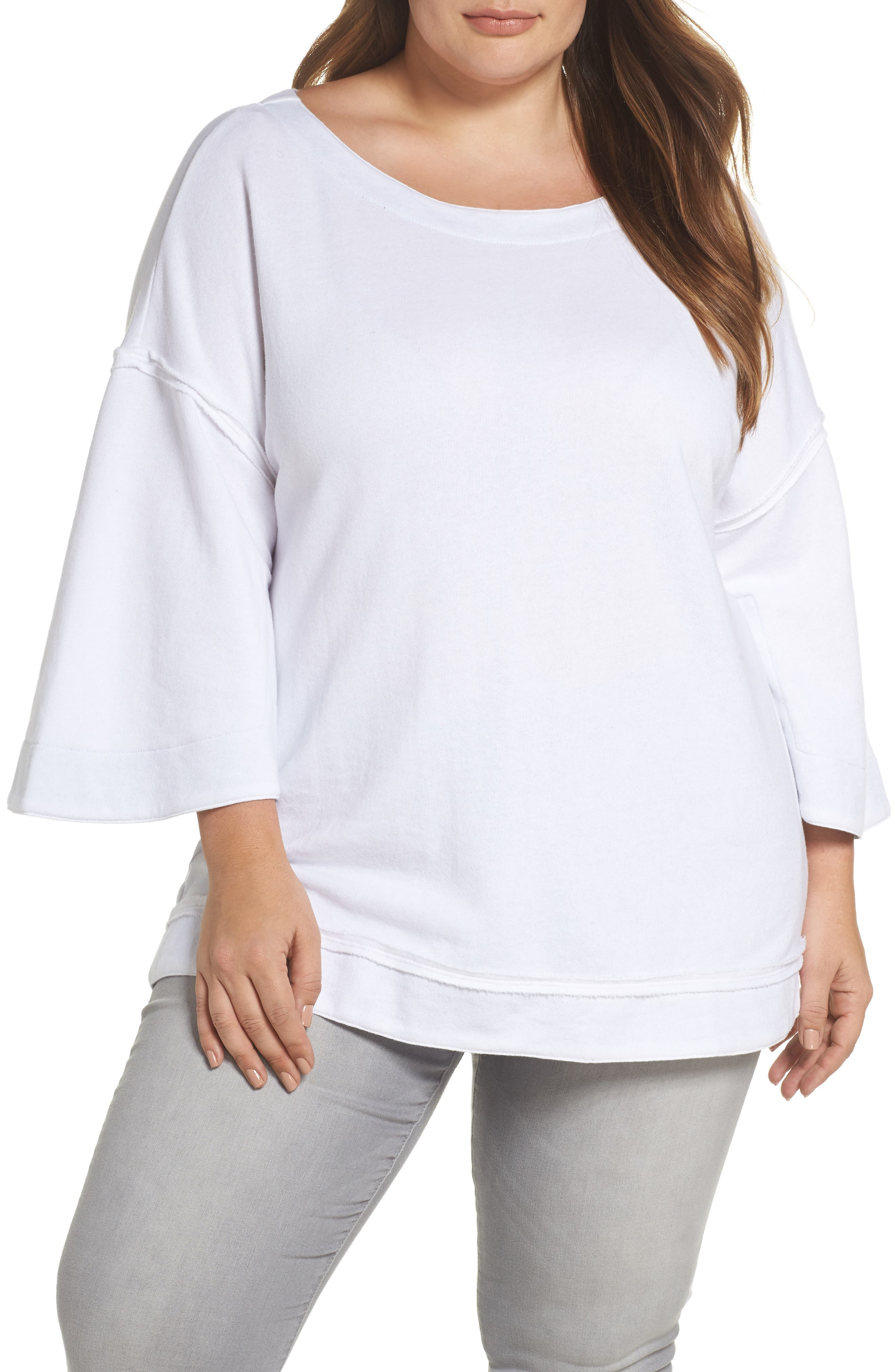 Split Sleeve Sweatshirt,                             Main thumbnail 2, color,
