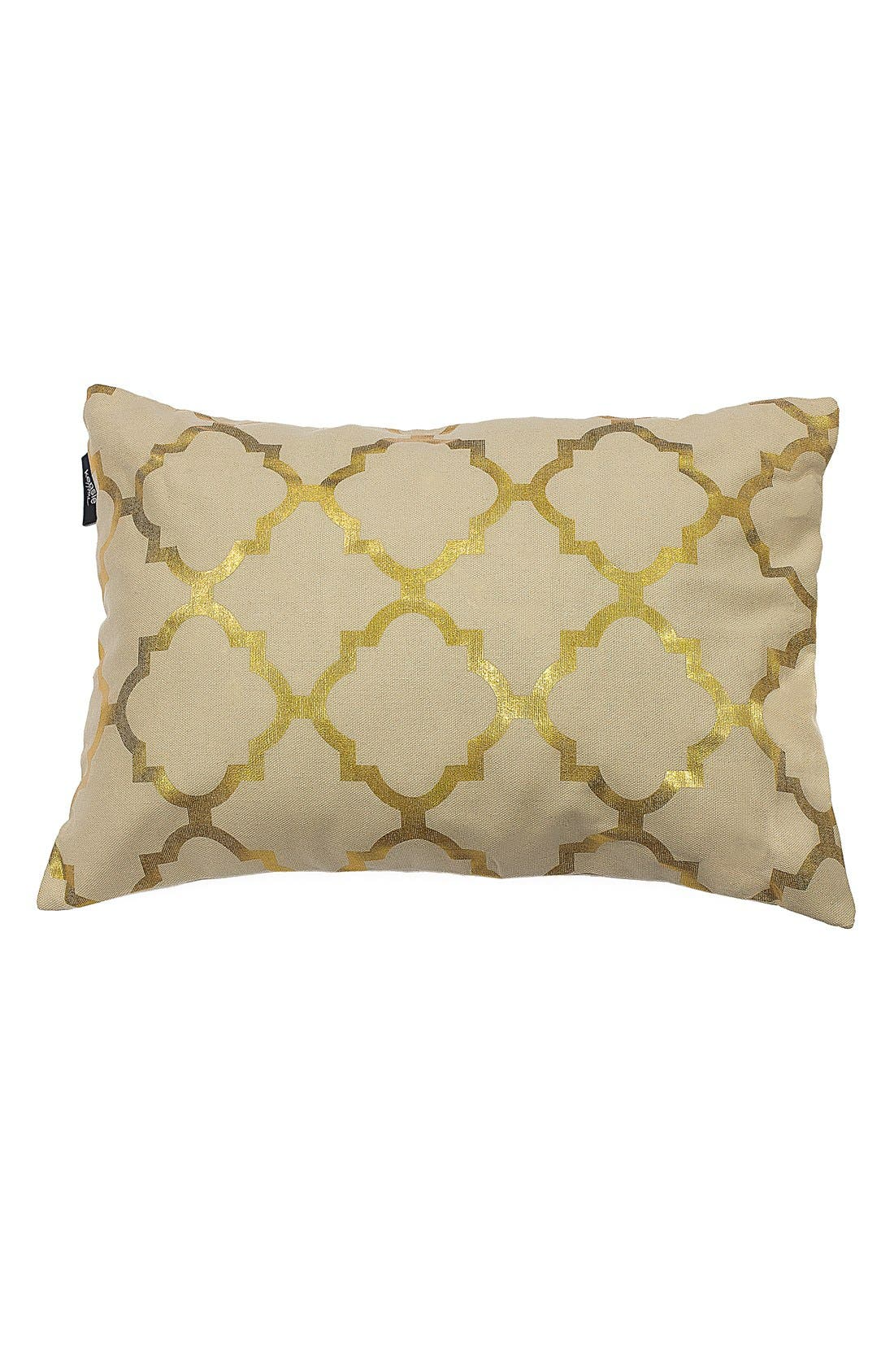 'Holly' Metallic Lattice Pillow,                             Main thumbnail 1, color,                             710