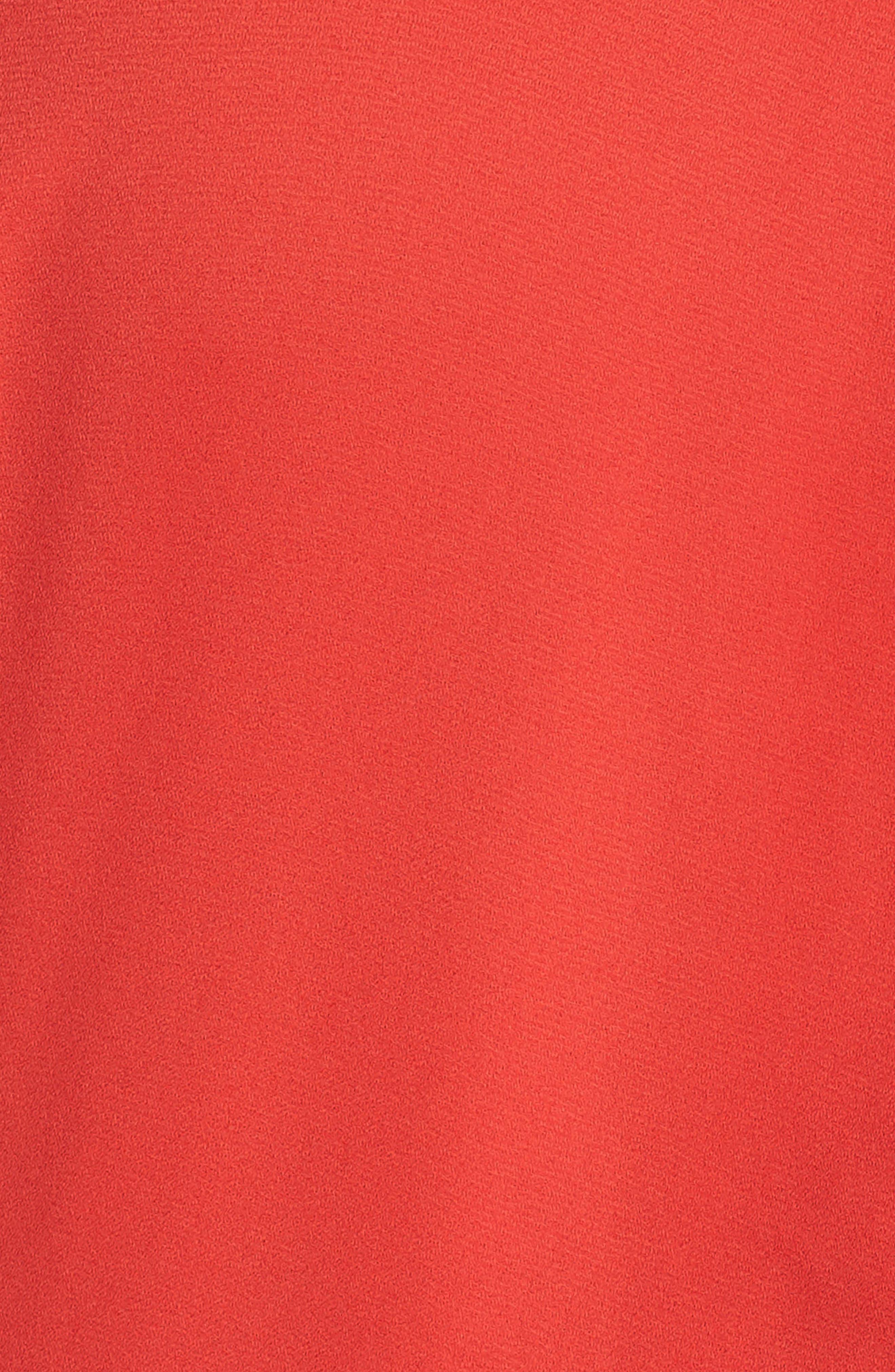 Short Sleeve Wrap Jumpsuit,                             Alternate thumbnail 6, color,                             BRIGHT CERISE
